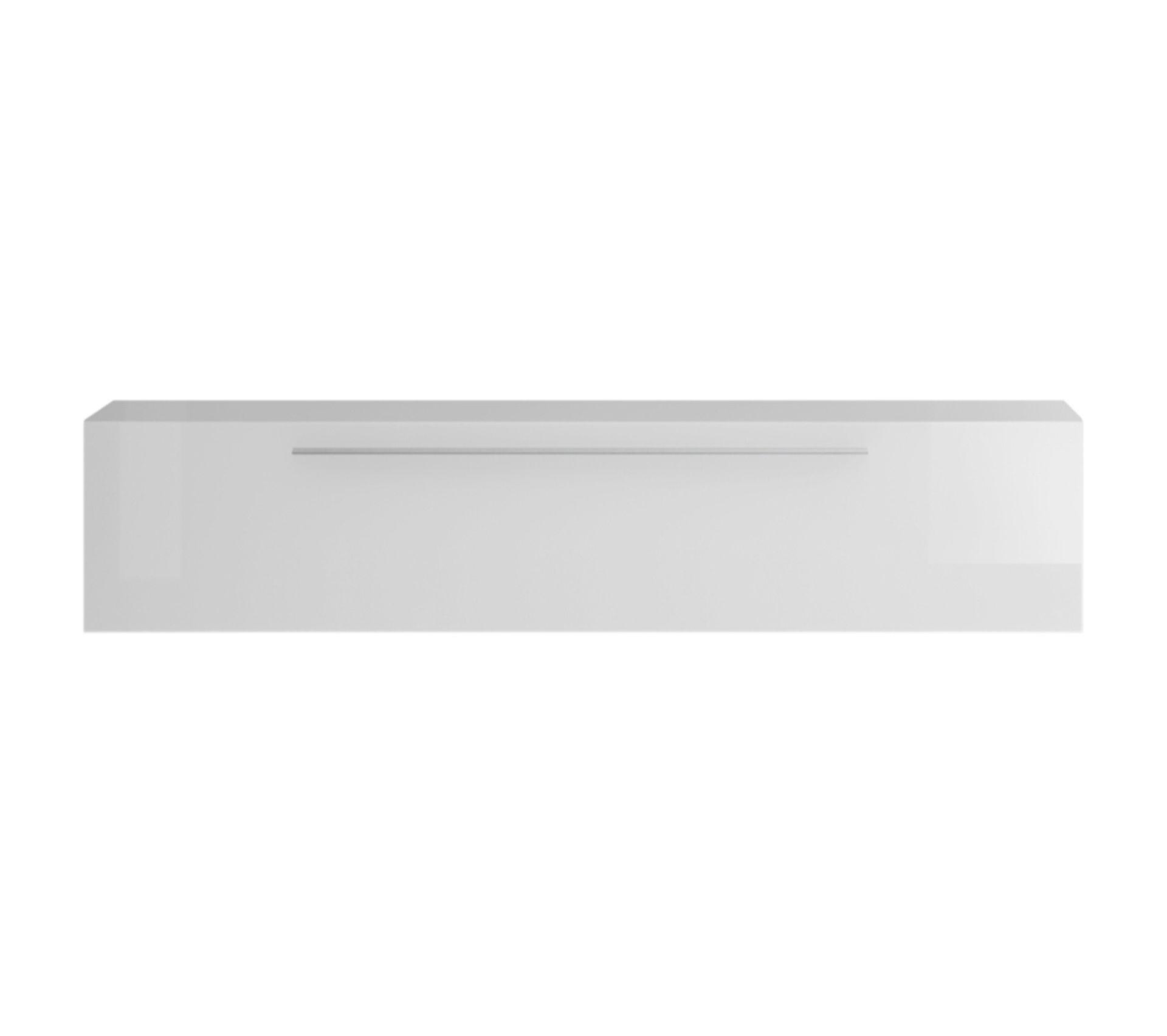 Difference Blanc Brillant Et Blanc Laqué Élément mural tv horizontal laqué blanc brillant avec baguette eternel