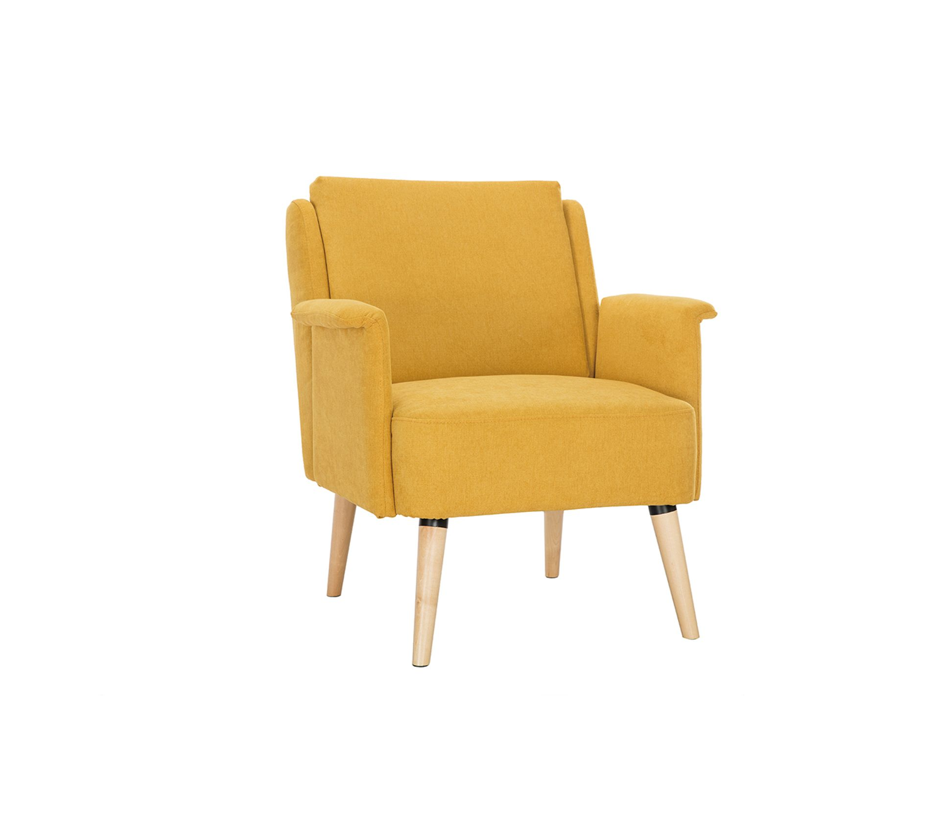 Fauteuil Relax Jaune Moutarde fauteuil design effet velours jaune moutarde aeola