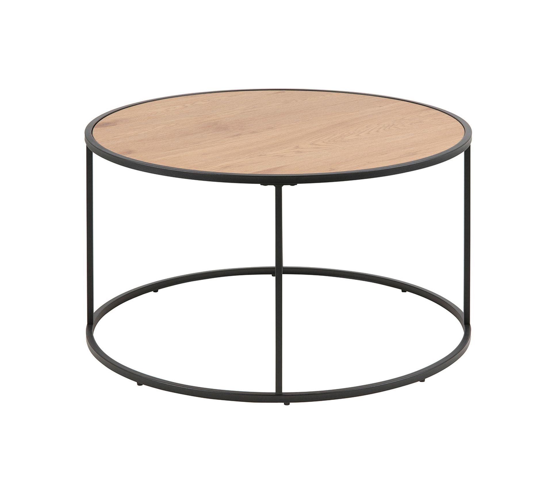 Table Basse Ronde Bois Et Metal Noir D80 Cm Tresca Table Basse But