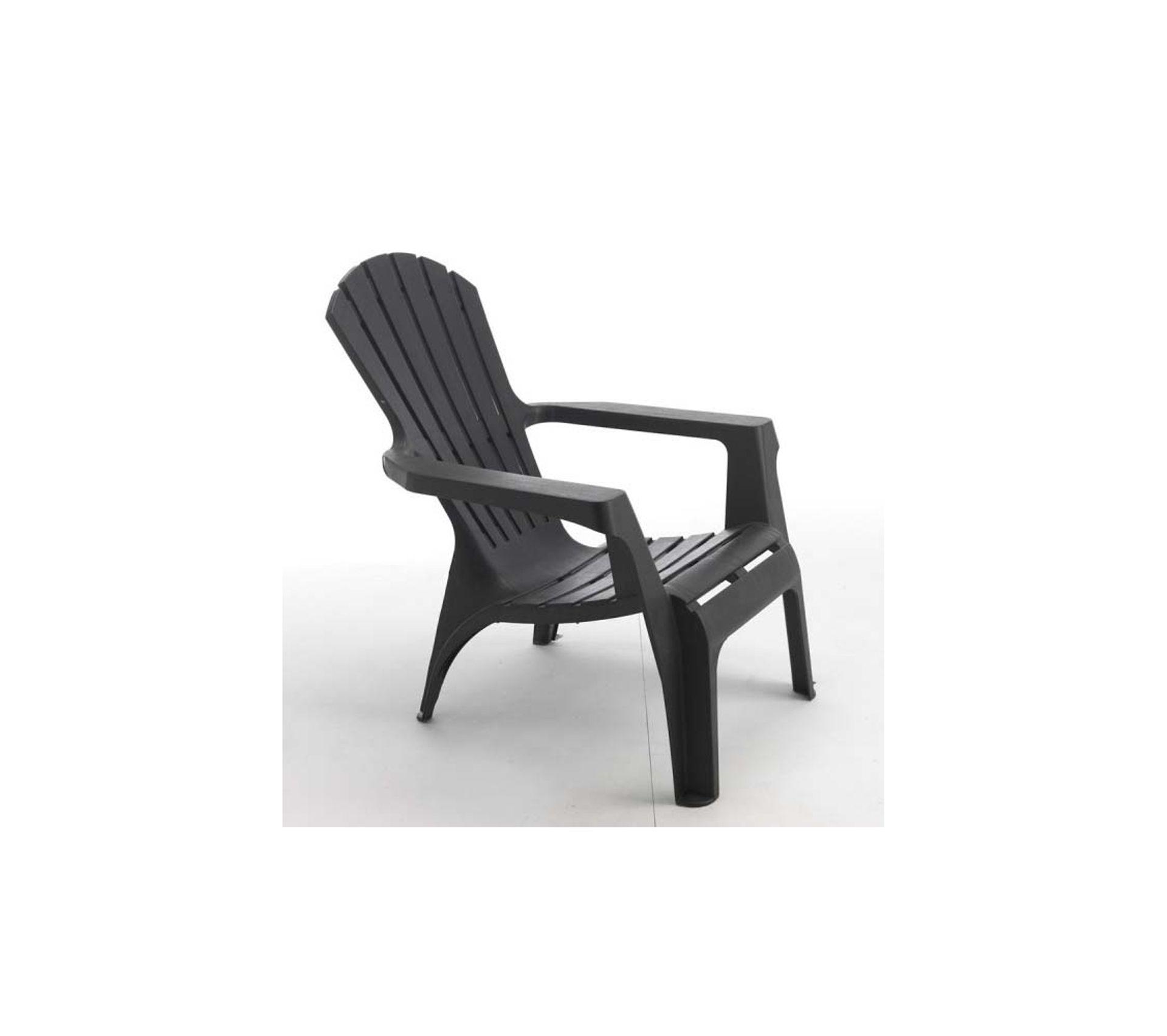 Coussin Pour Fauteuil Adirondack fauteuil adirondack en résine polypropylène anthracite