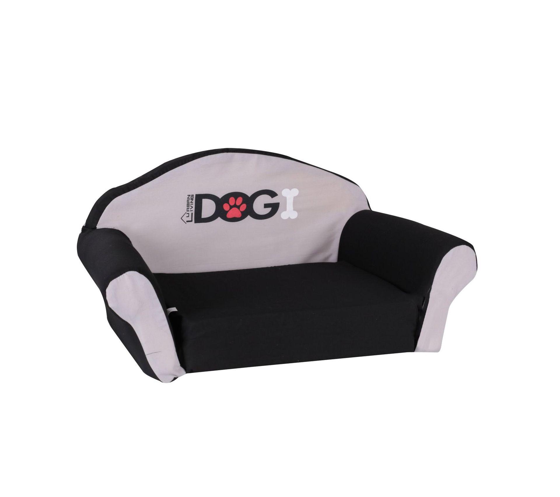Canape Chien Maison Du Monde sofa pour chien dogi - taille s - noir