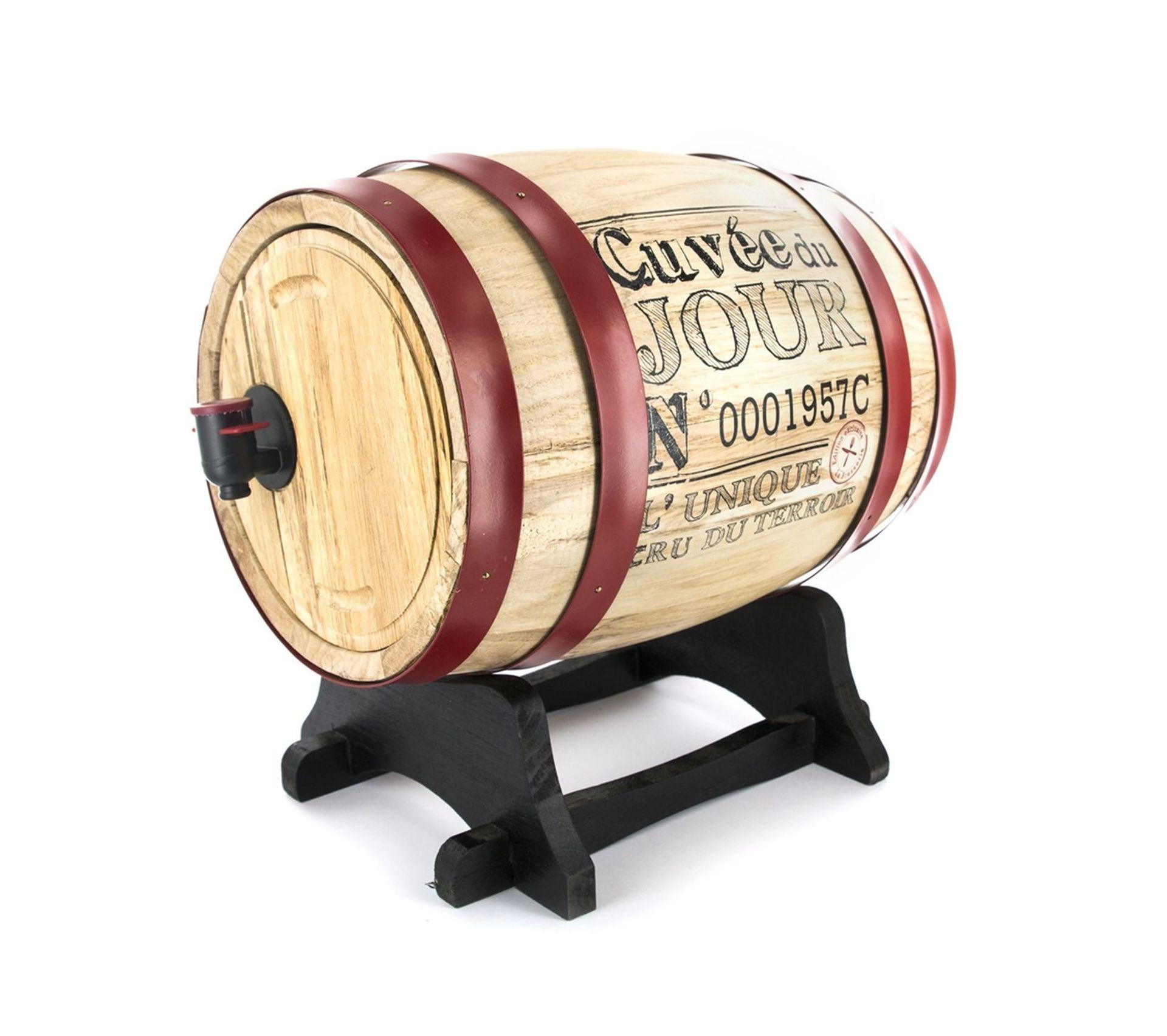 Meuble En Tonneau De Vin tonneau distributeur À vin bistrot - 3 l - rouge
