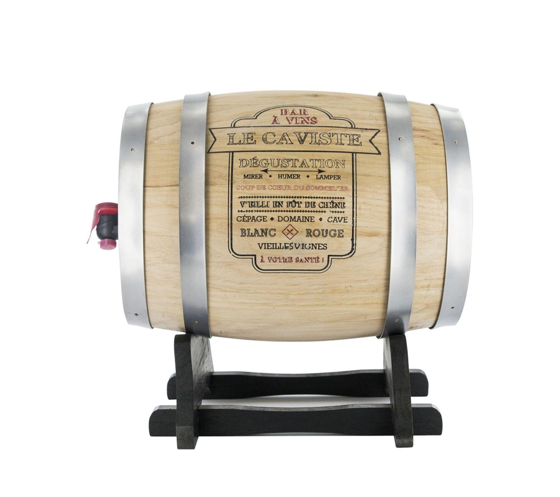 Meuble En Tonneau De Vin tonneau distributeur À vin bistrot - 3 l - gris