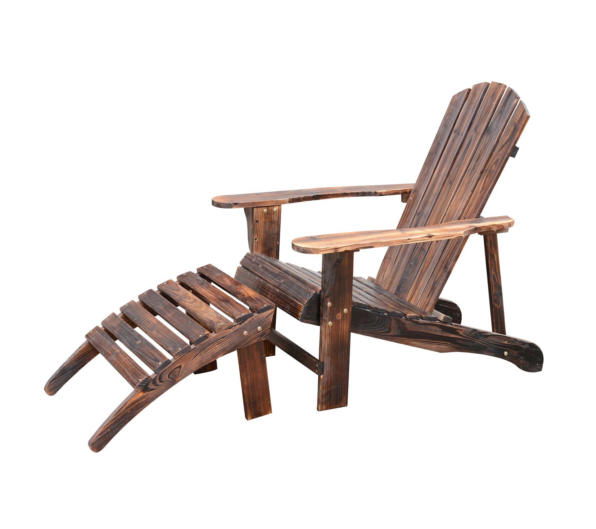 Coussin Pour Fauteuil Adirondack fauteuil de jardin adirondack chaise longue chaise plage avec tabouret bois  de pin