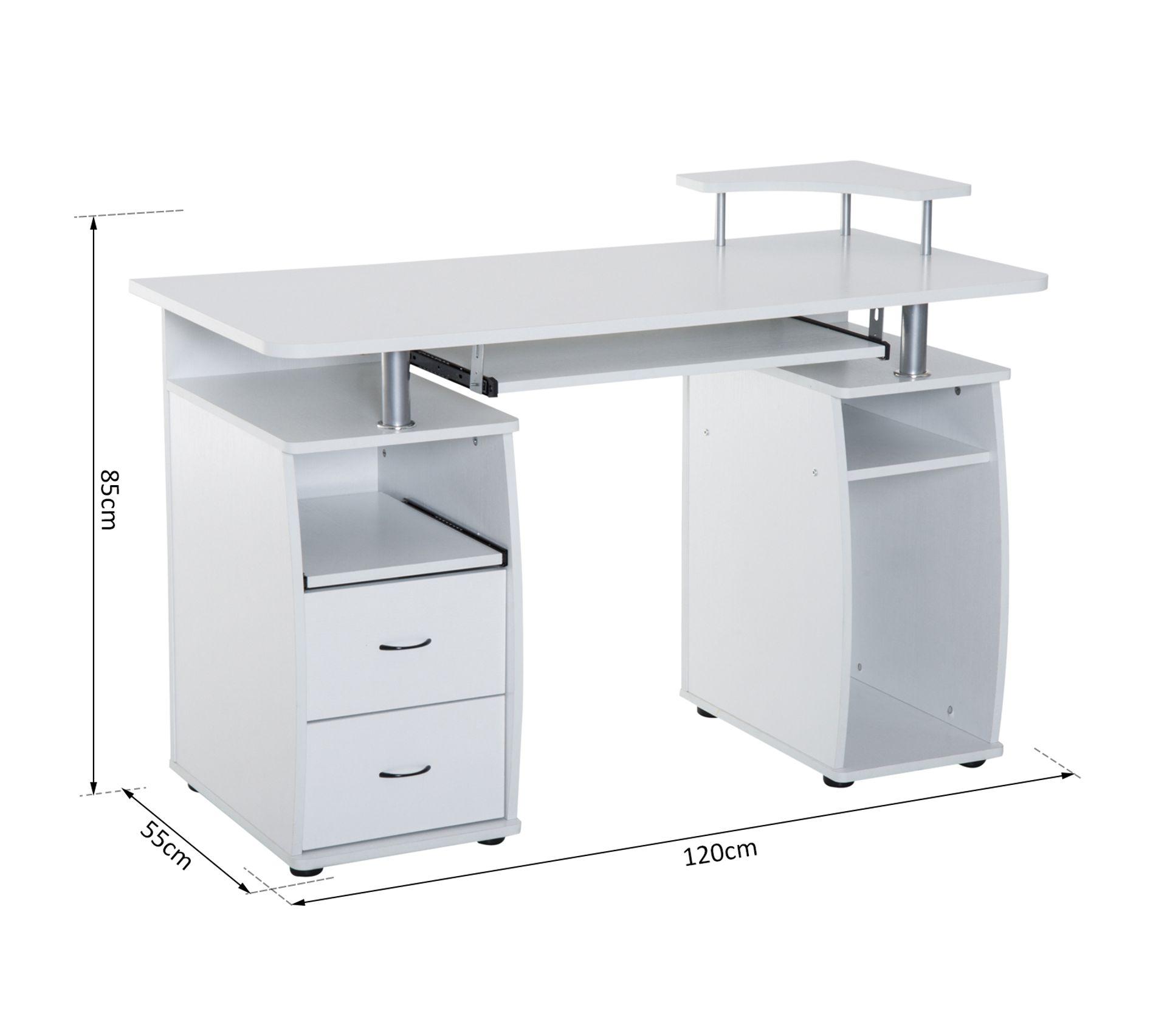Bureau Informatique Petit Espace bureau pour ordinateur table meuble pc informatique multimédia en mdf blanc