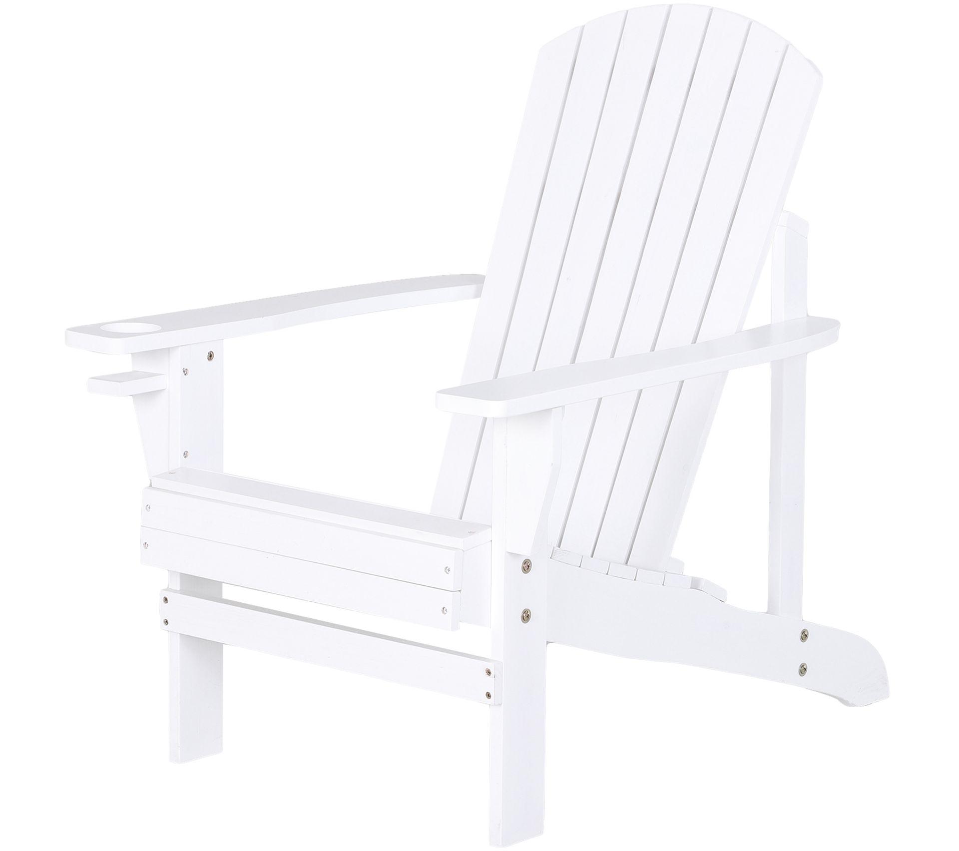 Coussin Pour Fauteuil Adirondack fauteuil de jardin adirondack chaise longue inclinable en bois 97l x 73l x  93h cm blanc