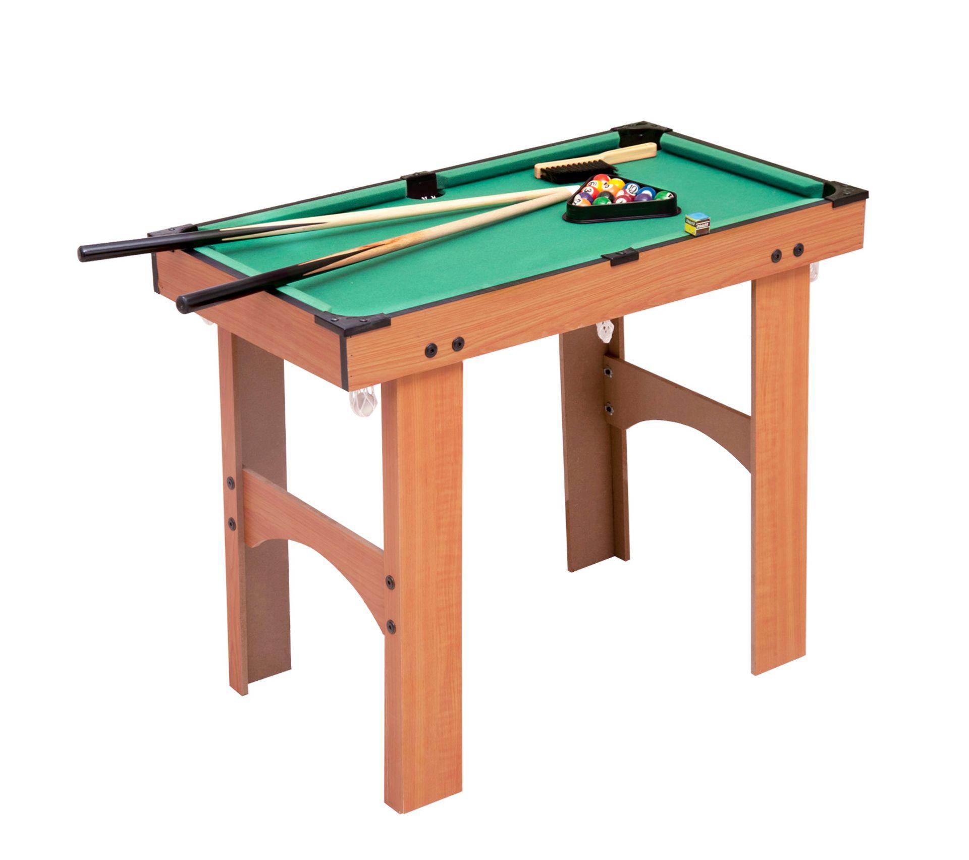 La Chaise Longue Billard mini table de billard sur pied avec accessoires bois mdf velours 77 x 40 x  63 cm