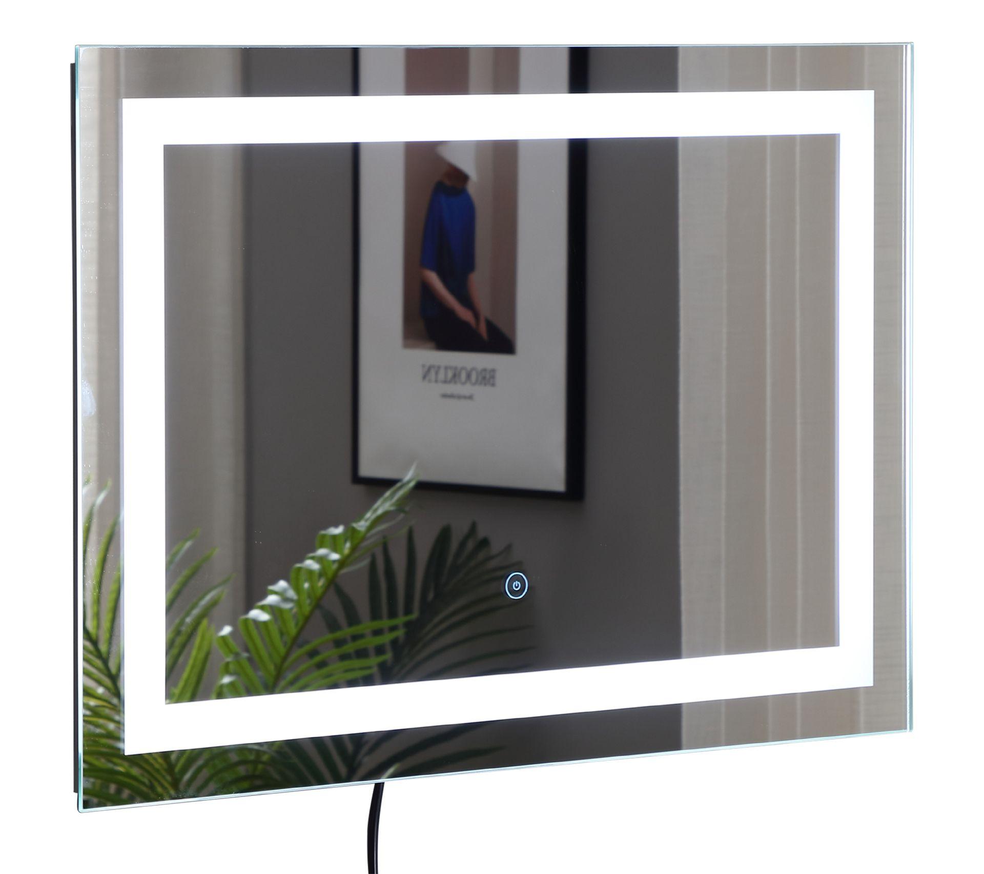 Miroir Eclairant Salle De Bain miroir lumineux led salle de bain 38 w interrupteur tactile 50l x 4l x 70h  cm