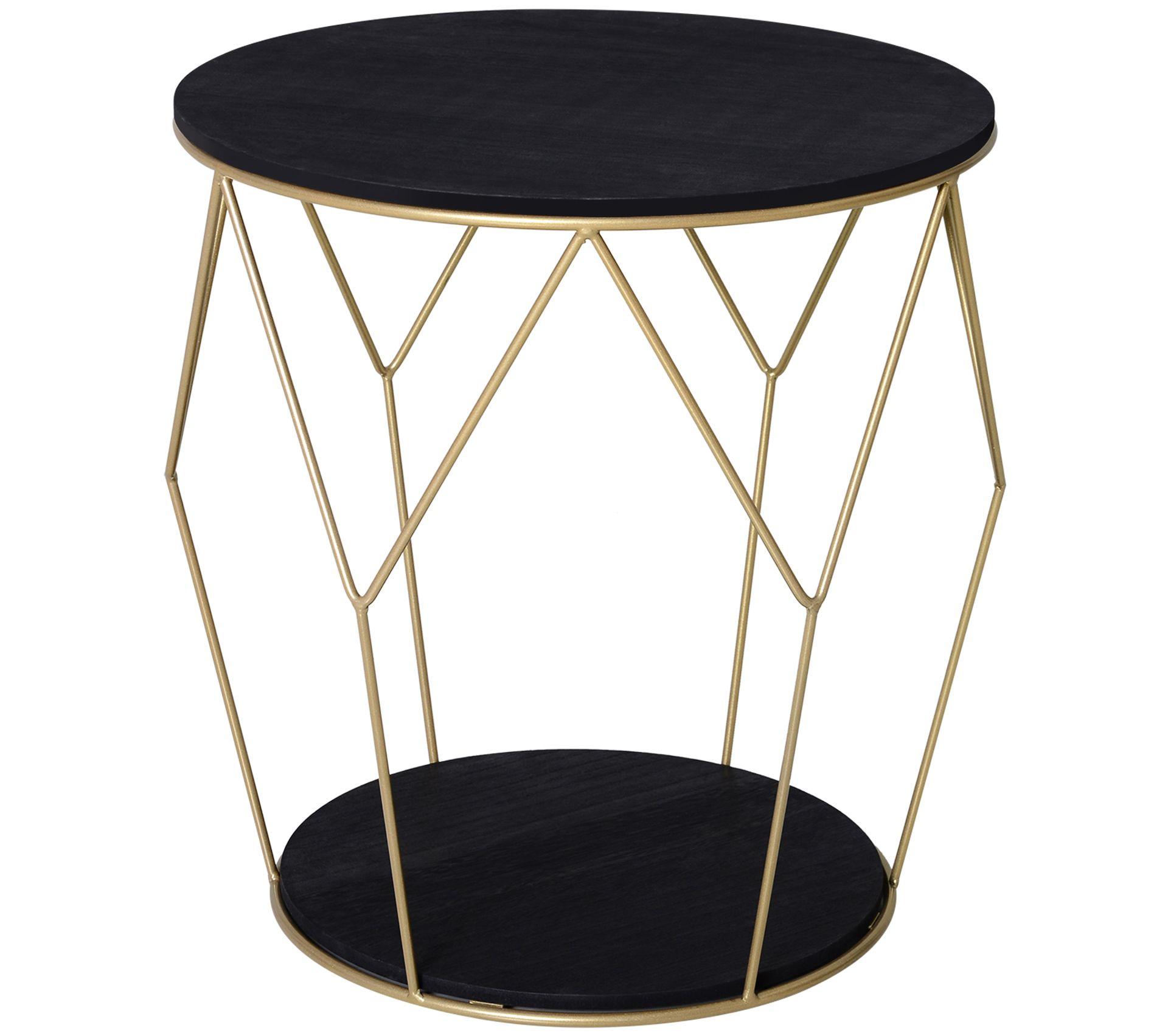 Table Basse Ronde Art Deco table basse ronde design style art déco noir doré