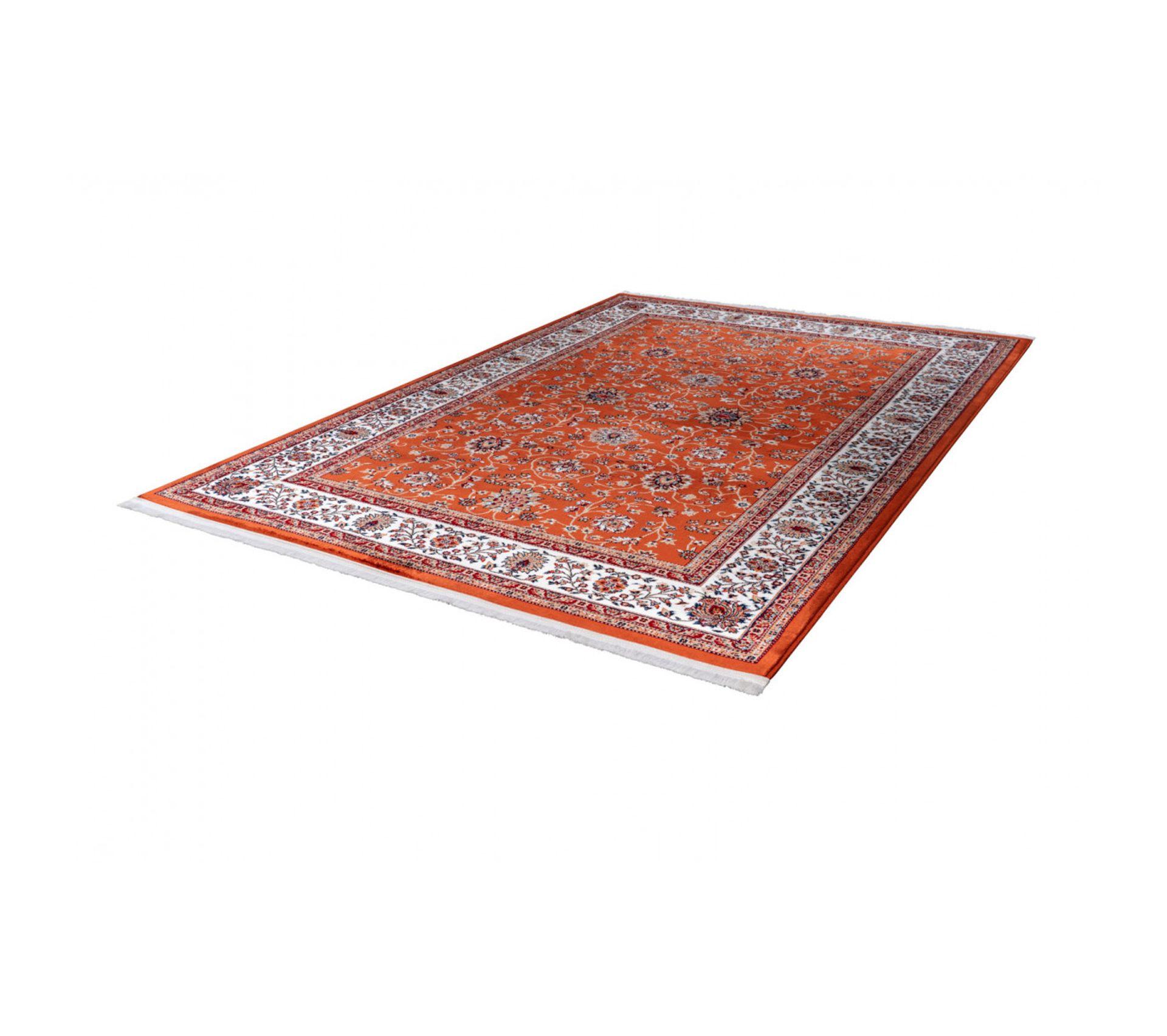Tapis Salon Couleur Rouille tapis dorient avec franges en polyester cedar rouille 240x330
