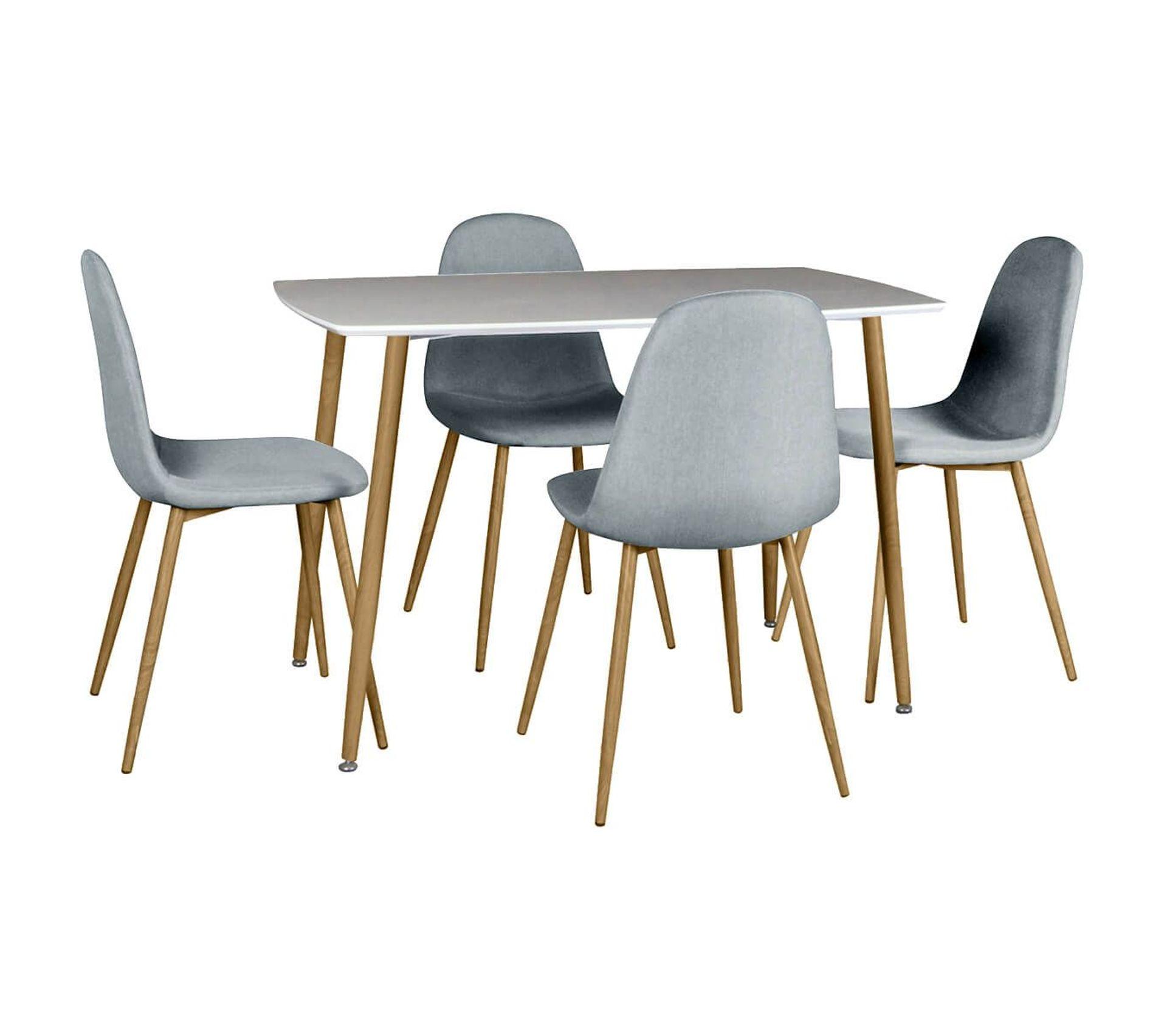 Ensemble Table + 6 Chaises Gris Clair - Winter