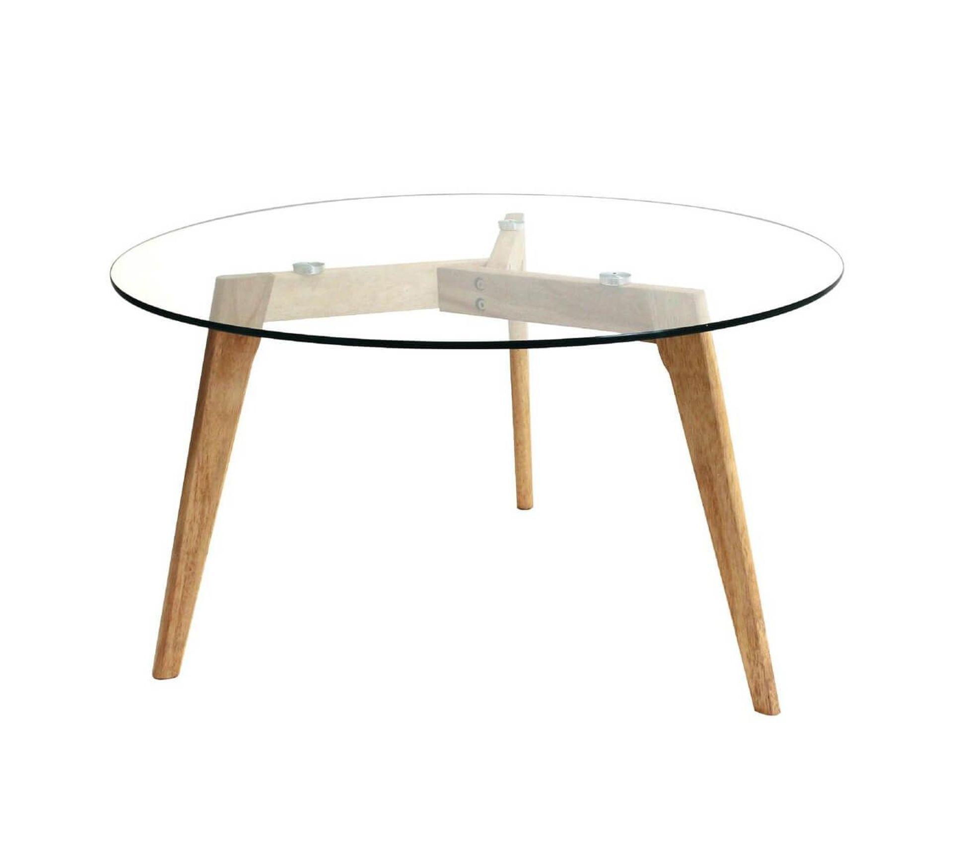 Table Basse Ronde Plateau Verre Verane Table Basse But