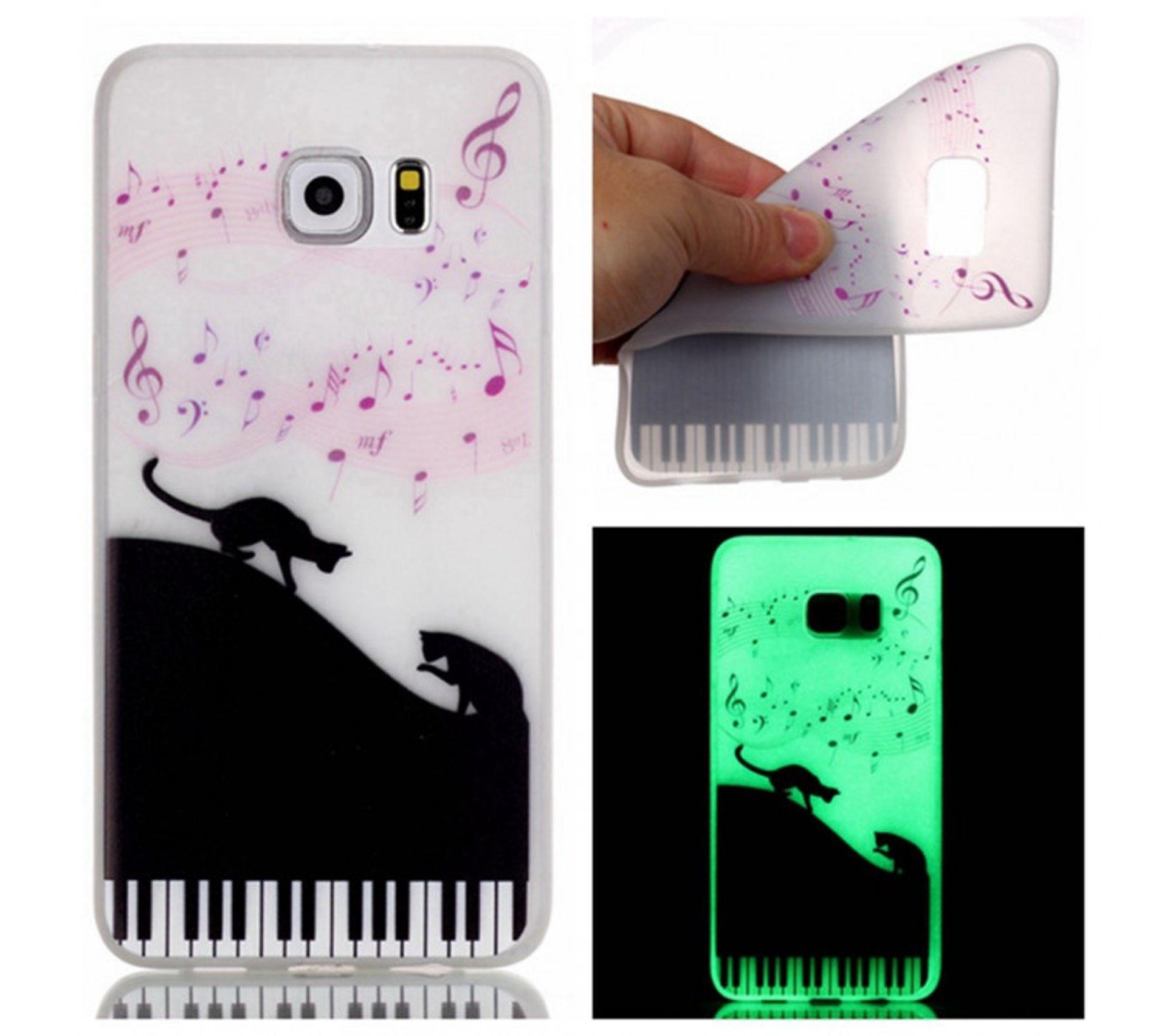 Coque Souple Pour Samsung Galaxy S7 Phosphorescente Motif Note De Musique