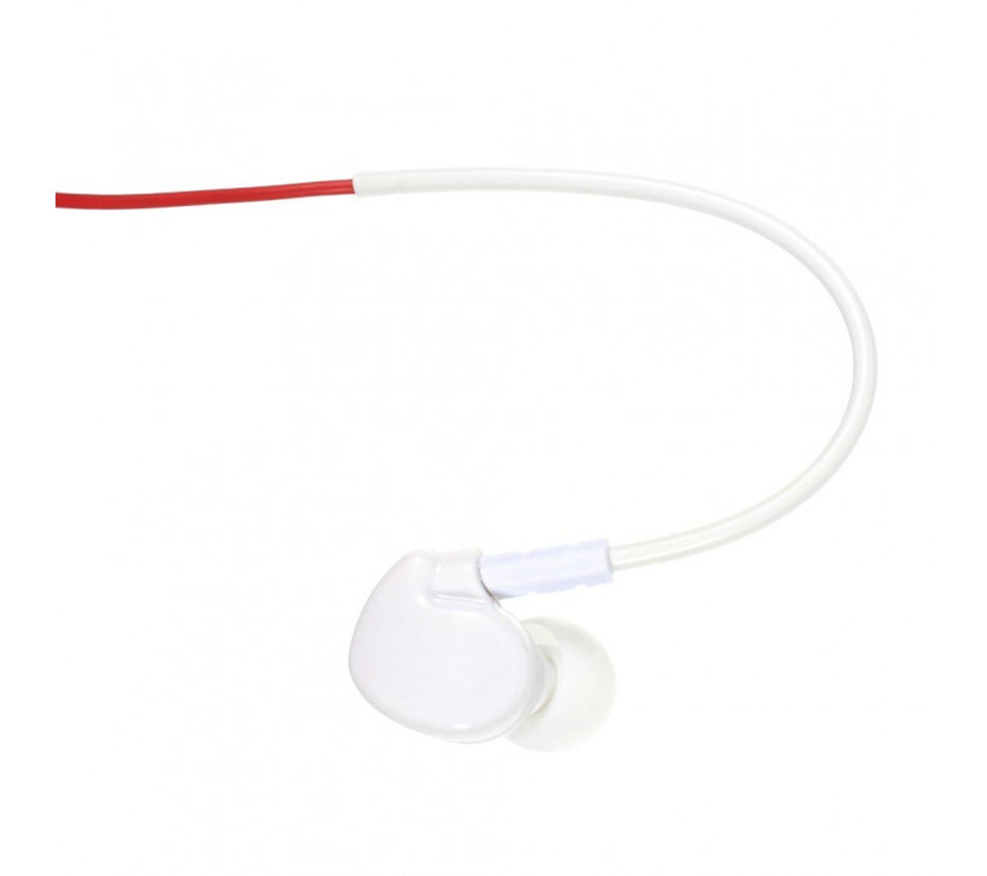 Ecouteurs Mains libres Spécial Sport Blanc Rouge Contours Doreilles