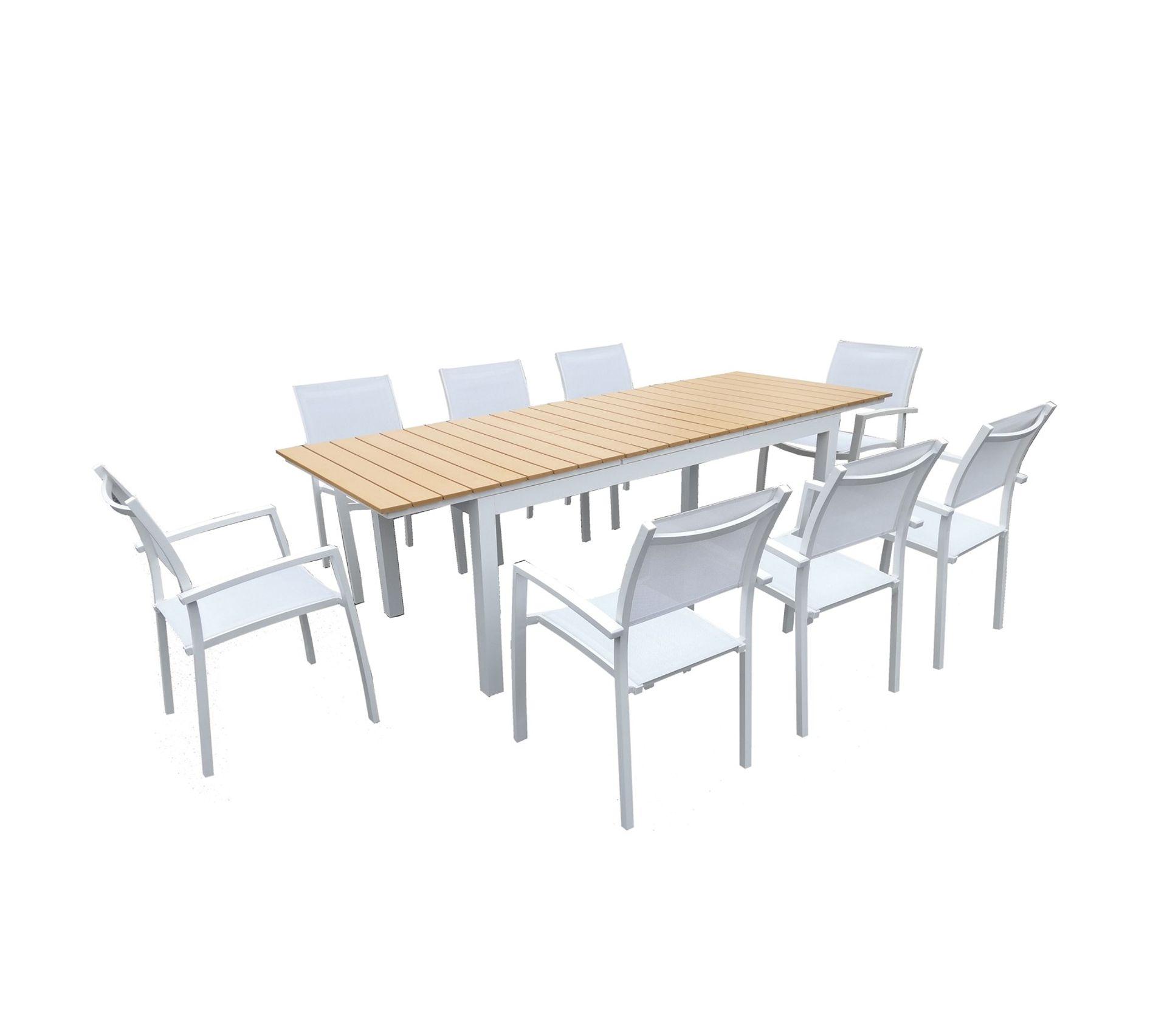 Table De Jardin Extensible Aluminium Blanc 180 240 Cm 8