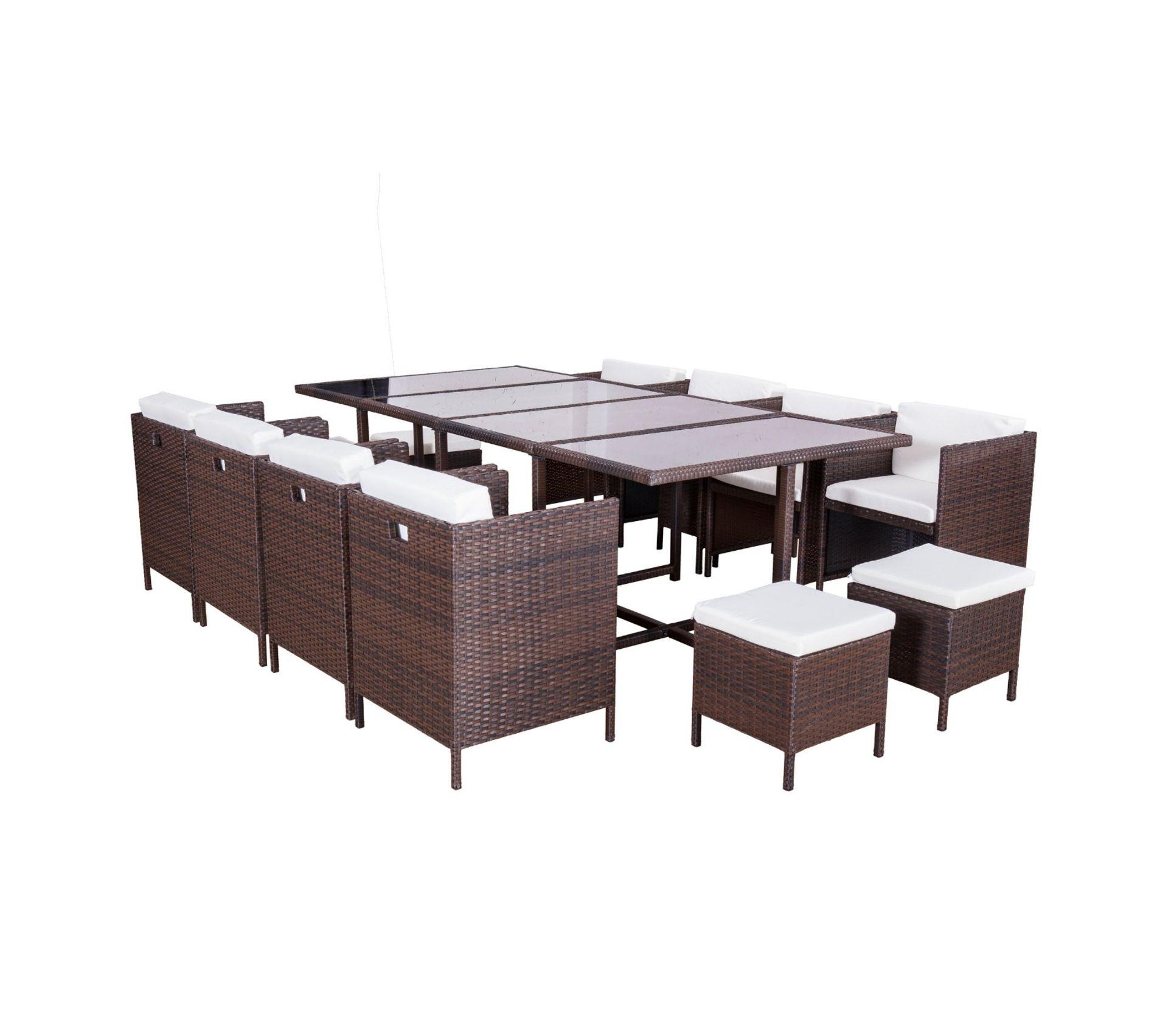 Table De Jardin Tresse Marron