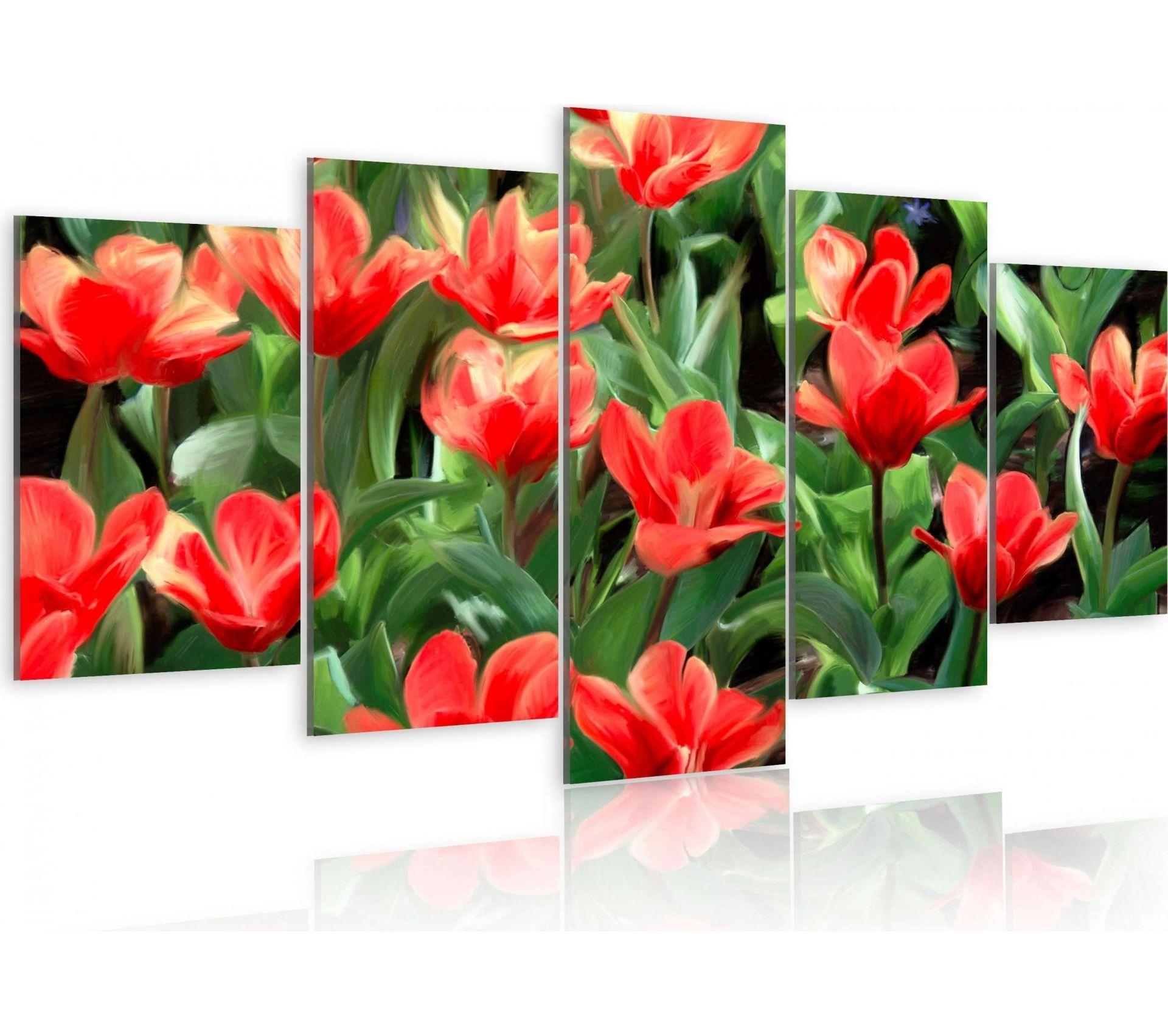 Image De Parterre De Fleurs tableau parterre de fleurs 200 x 100 cm