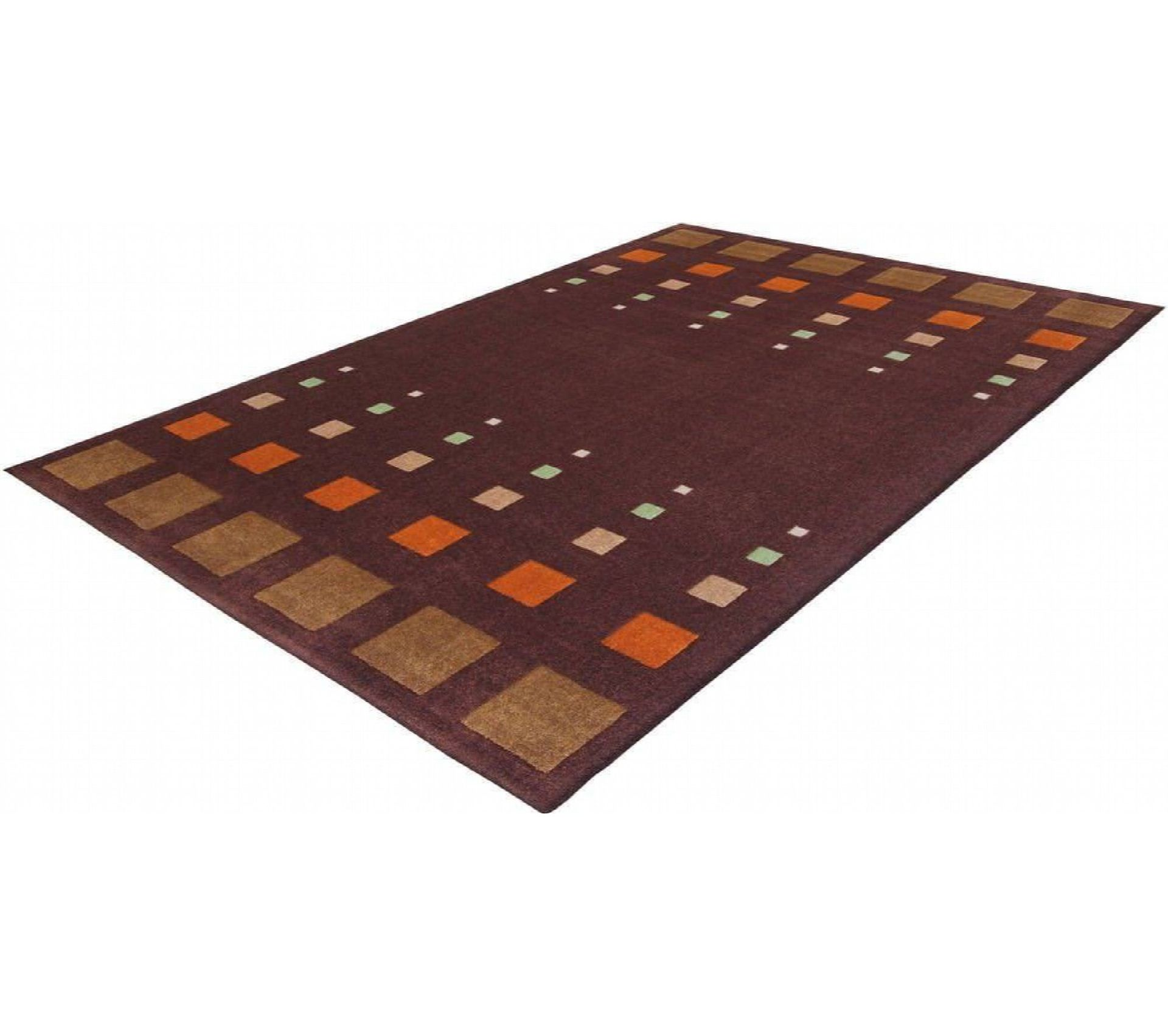 Tapis Style De 40 Marron Orange 120 X 170 Cm