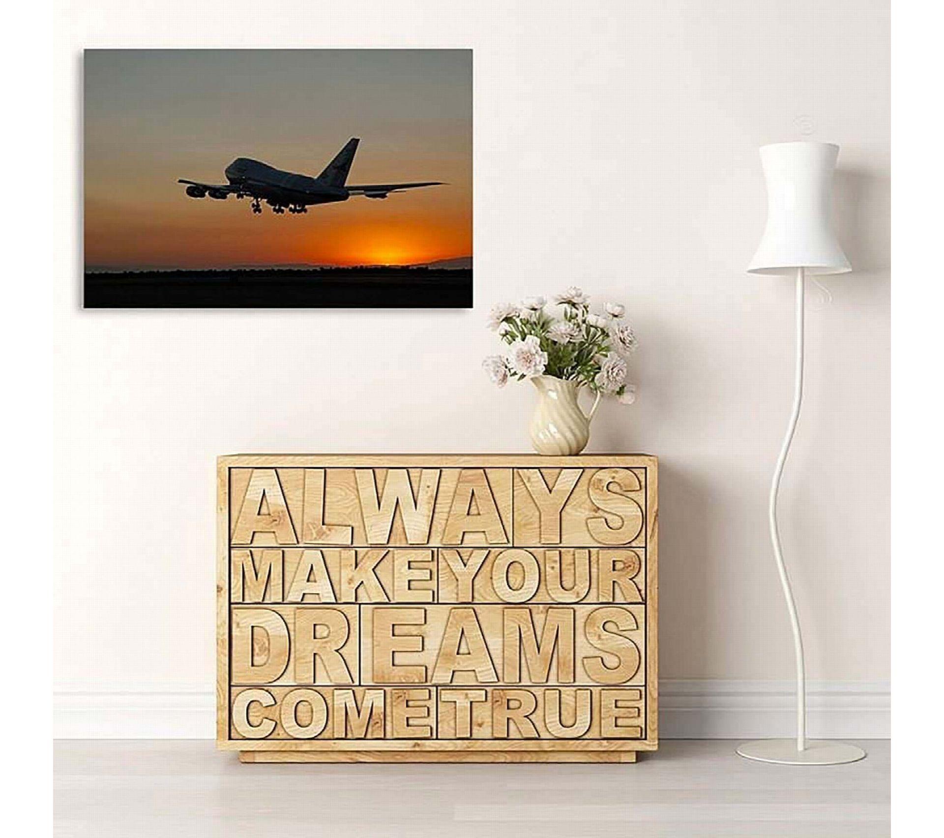 Etagere Avion Chambre Bebe tableau avion la nuit 40 x 30 cm