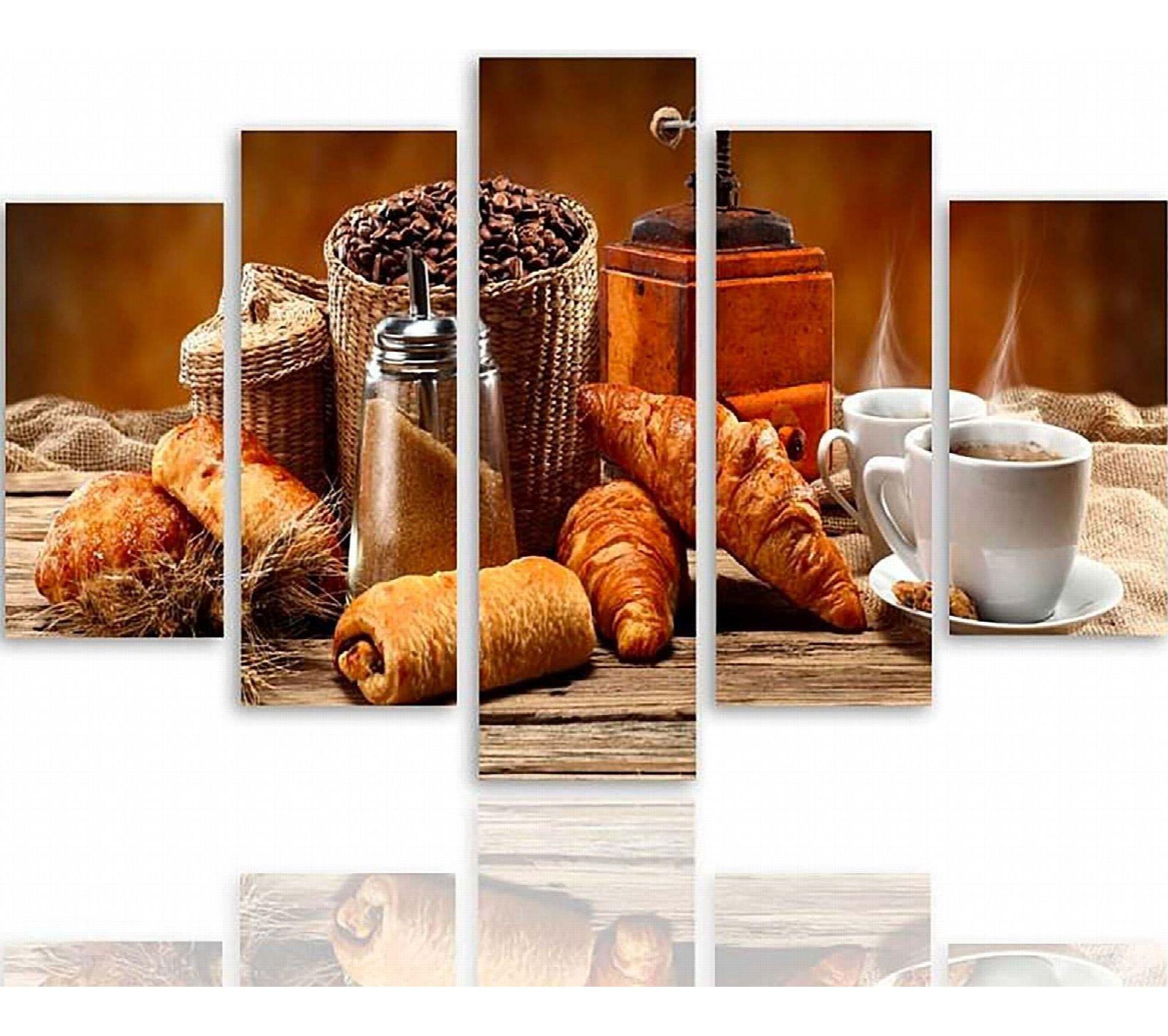 Rangement Petit Dejeuner Cuisine tableau un petit-déjeuner français 150 x 100 cm