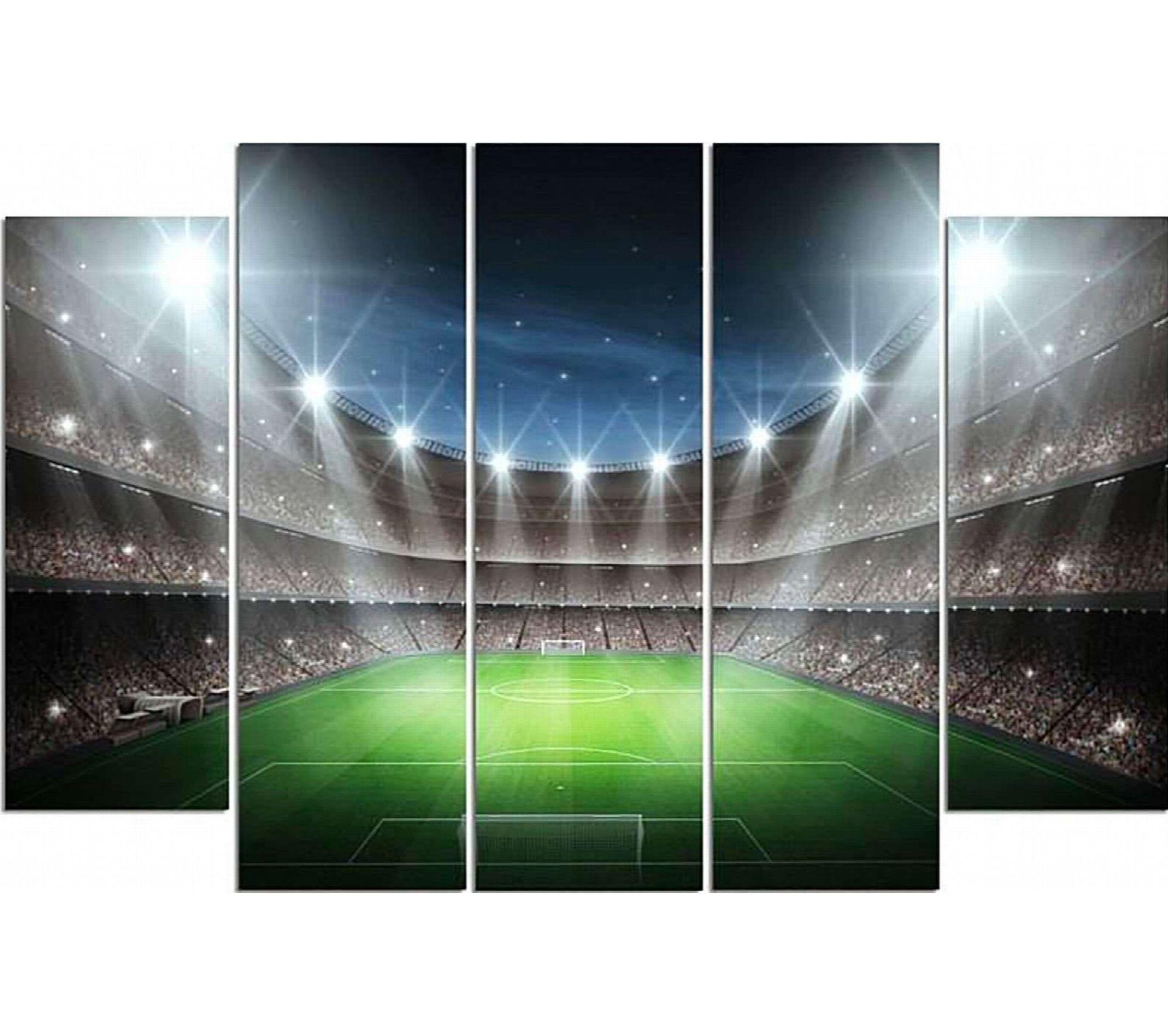 """5 nappes papier 120 cm x 180 CM /""""Football/"""" football laqué fête pelouse"""