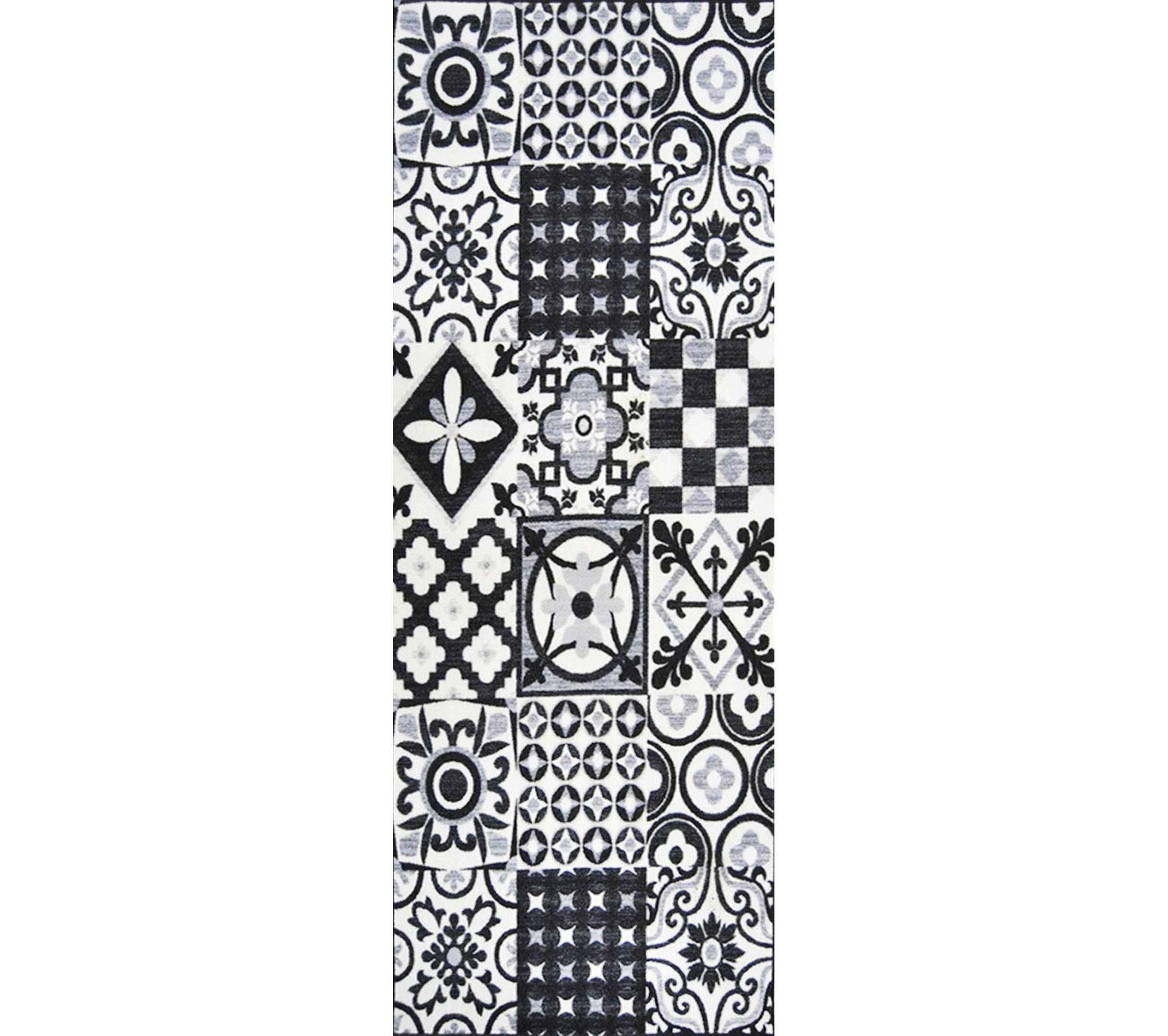 Tapis Effet Carreaux De Ciment tapis utopia 500 carreaux de ciment 80 x 300 cm
