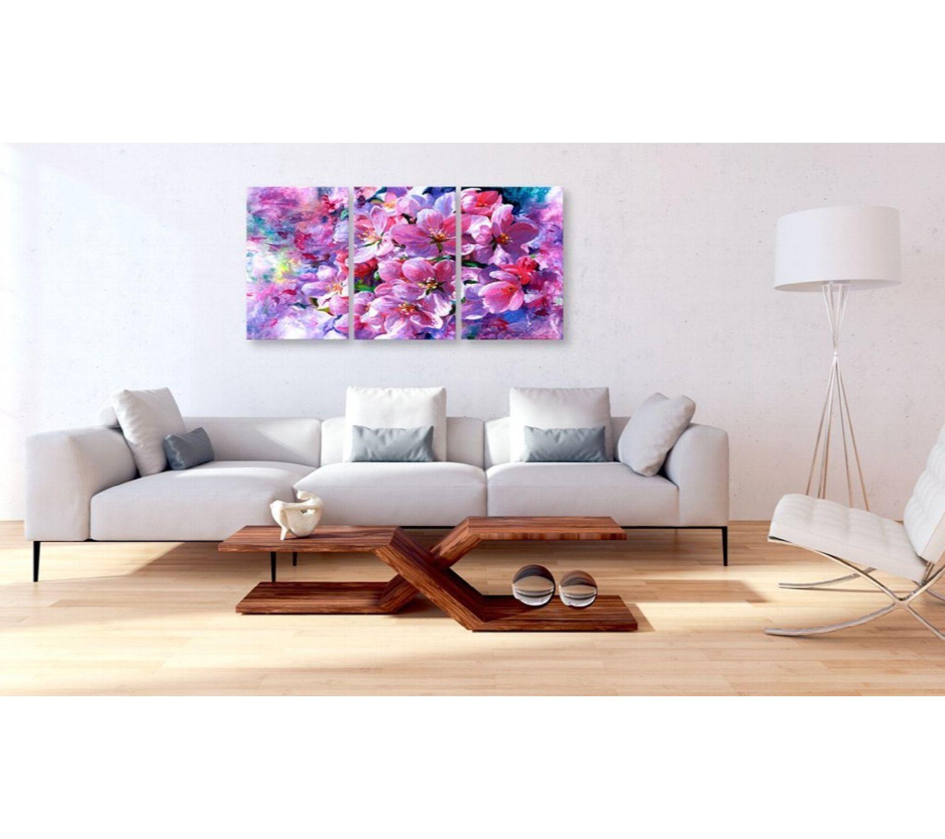 Tableau Lilac Flowers 60 X 30 Cm - Tableau - Toile BUT