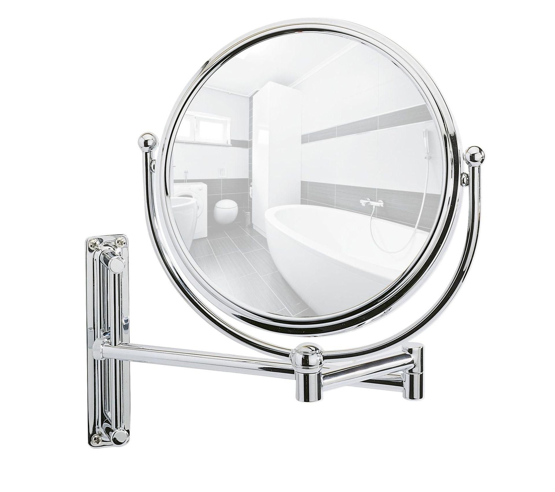 Miroir Mural Grossissant De Salle De Bain Deluxe - Diam. 16 Cm - Argent