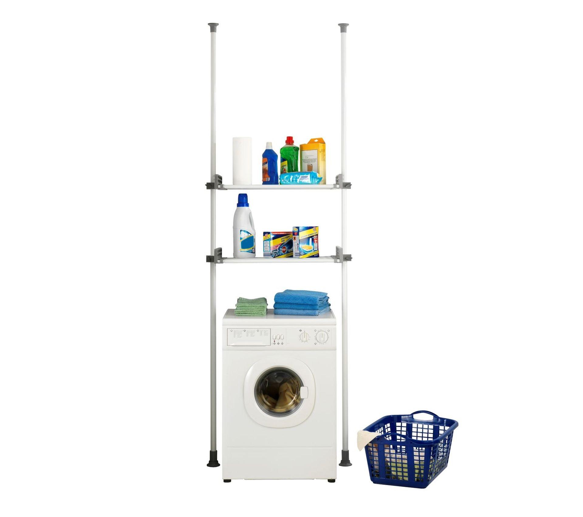 Etagere Pour Machine A Laver Et Toilette H 165 300 Cm Gris Etagere Tablette De Salle De Bain But