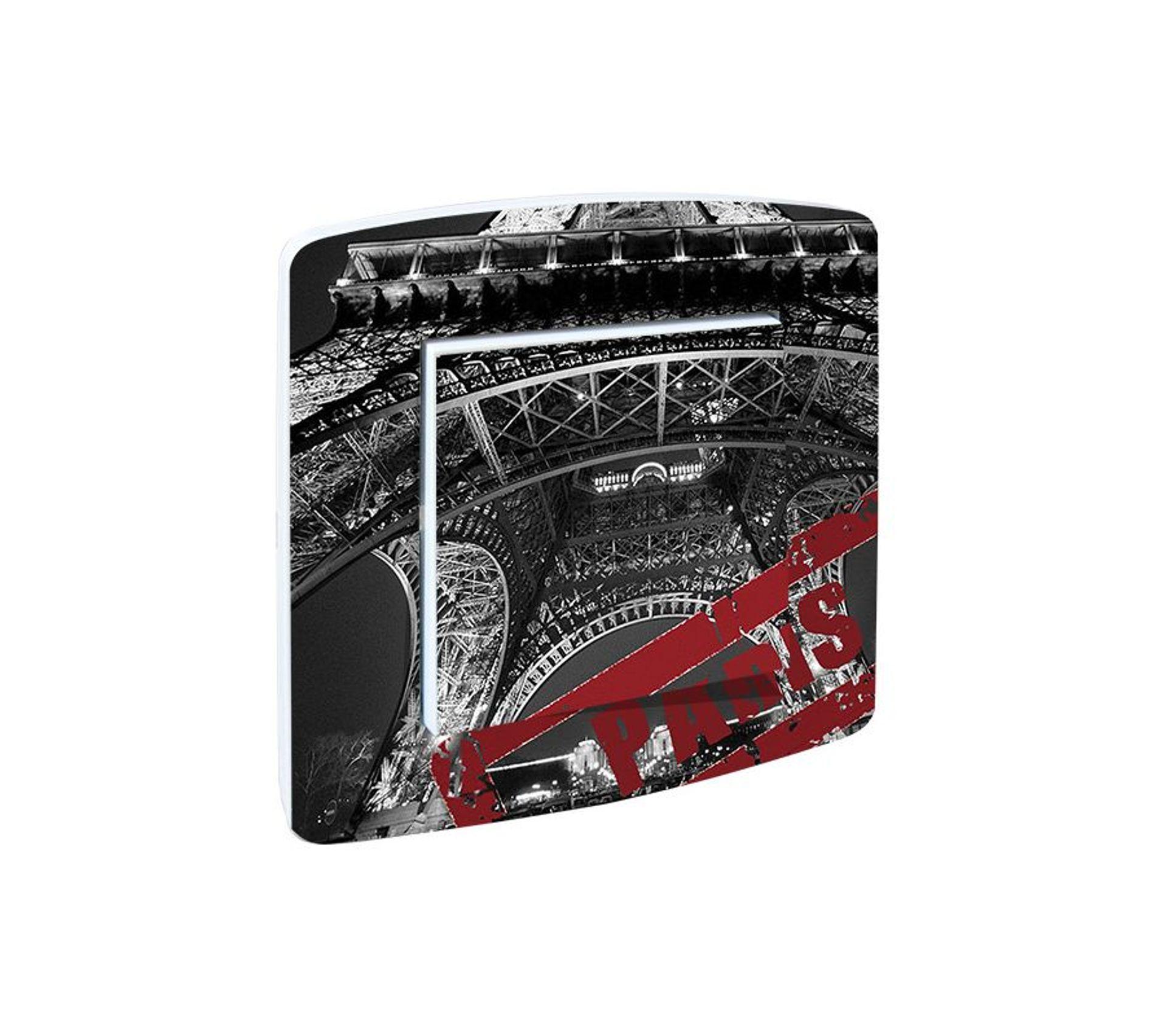 Paris Tour Eiffel Simple Interrupteur De Lumière Couverture Vinyle Autocollant