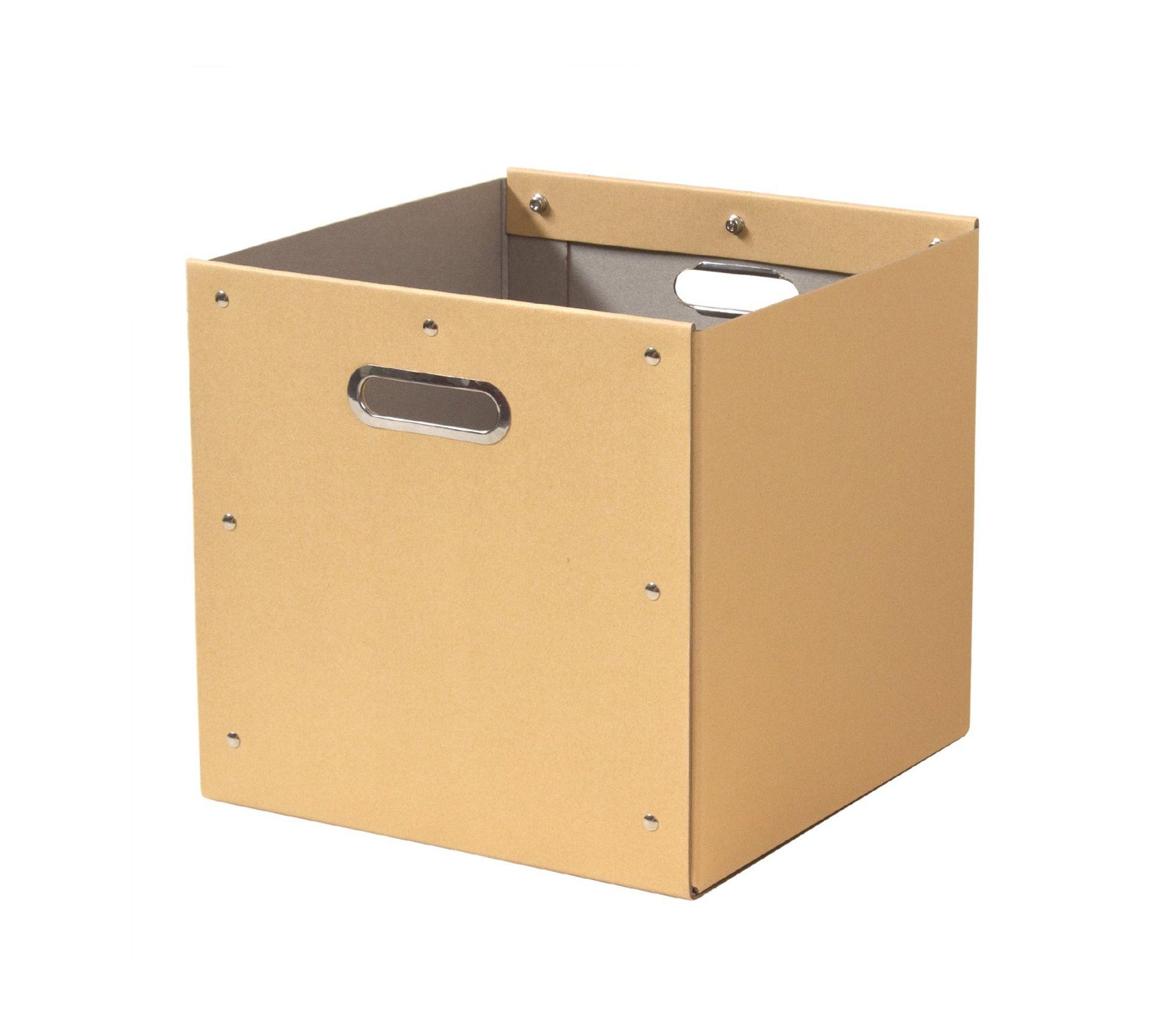 Cube De Rangement En Kraft Finition Metal Panier But