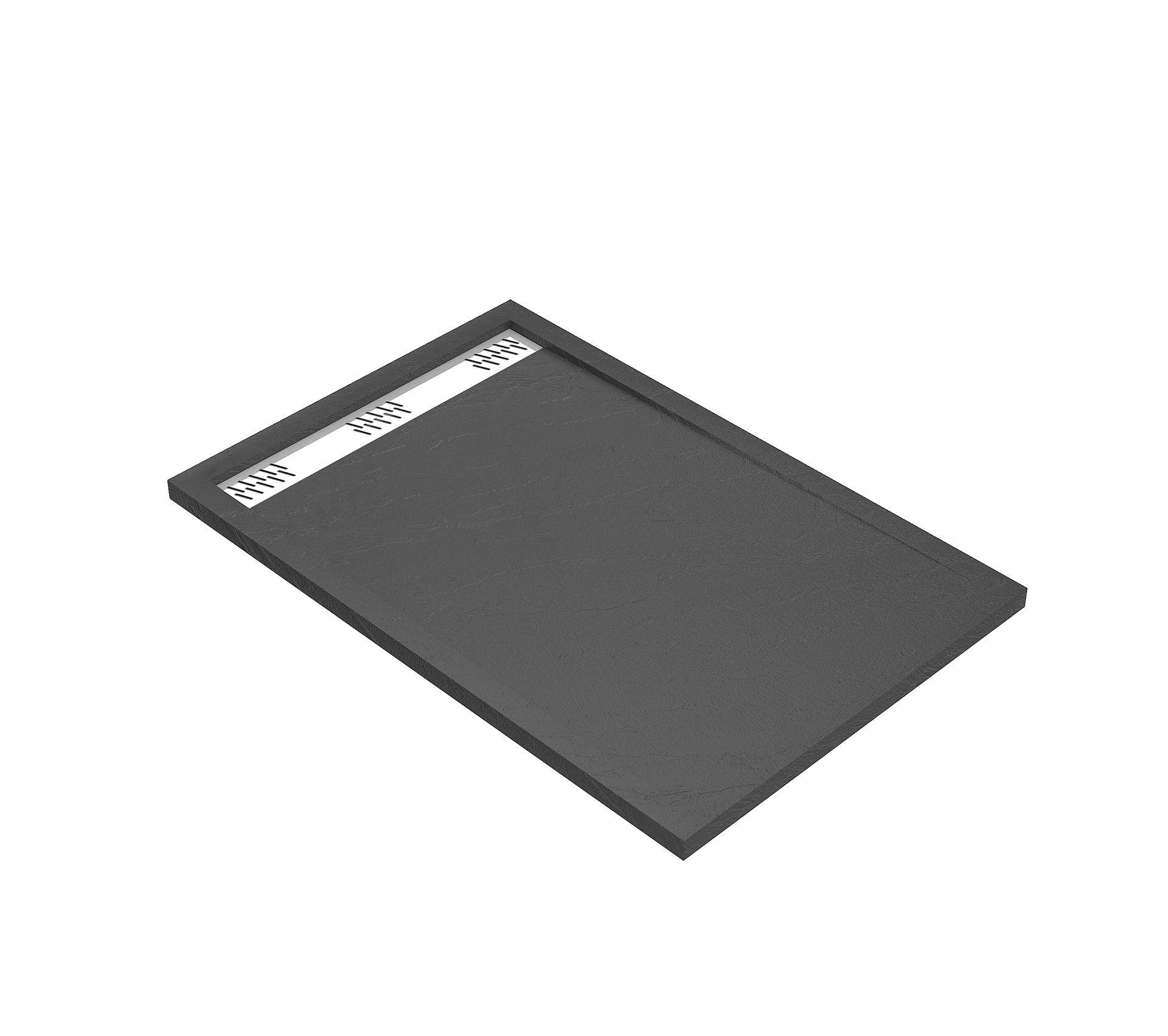 receveur extra plat a poser 120x80 cm caniveau  acrylique
