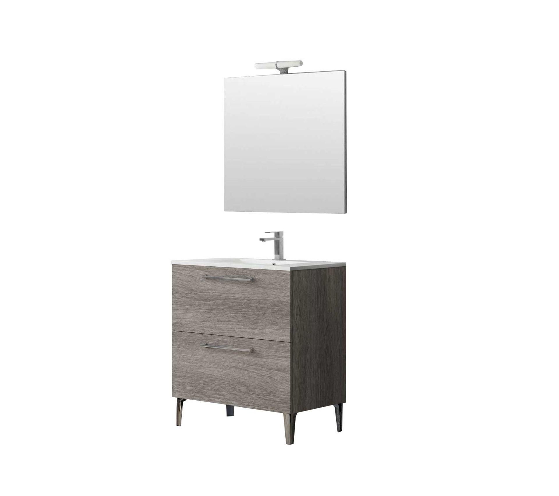 Tablette Salle De Bain 80 Cm ensemble de salle de bain deko 80 cm bois foncé