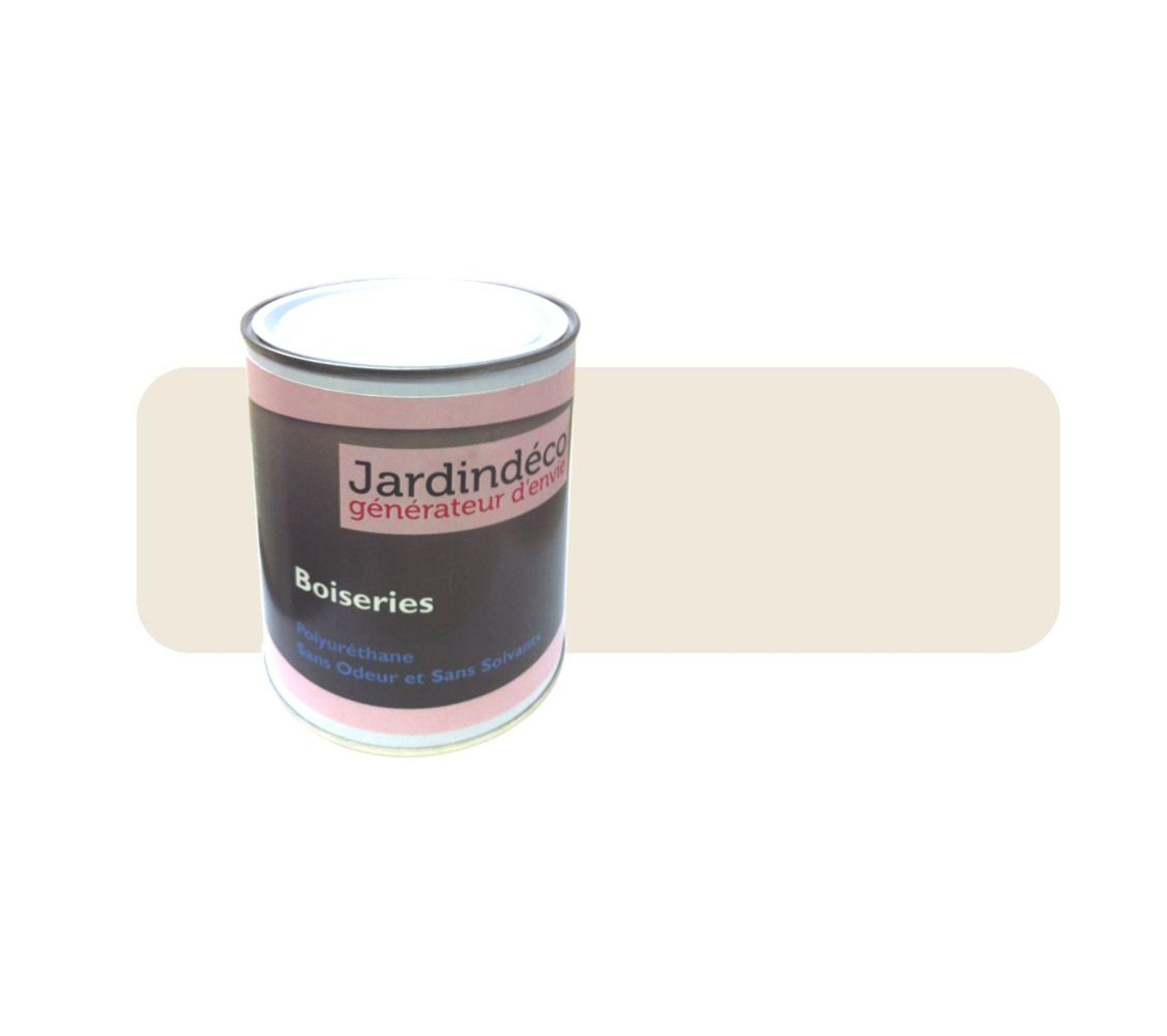 Peinture Creme Pour Meuble En Bois Brut 1 Litre Creme Bricolage But