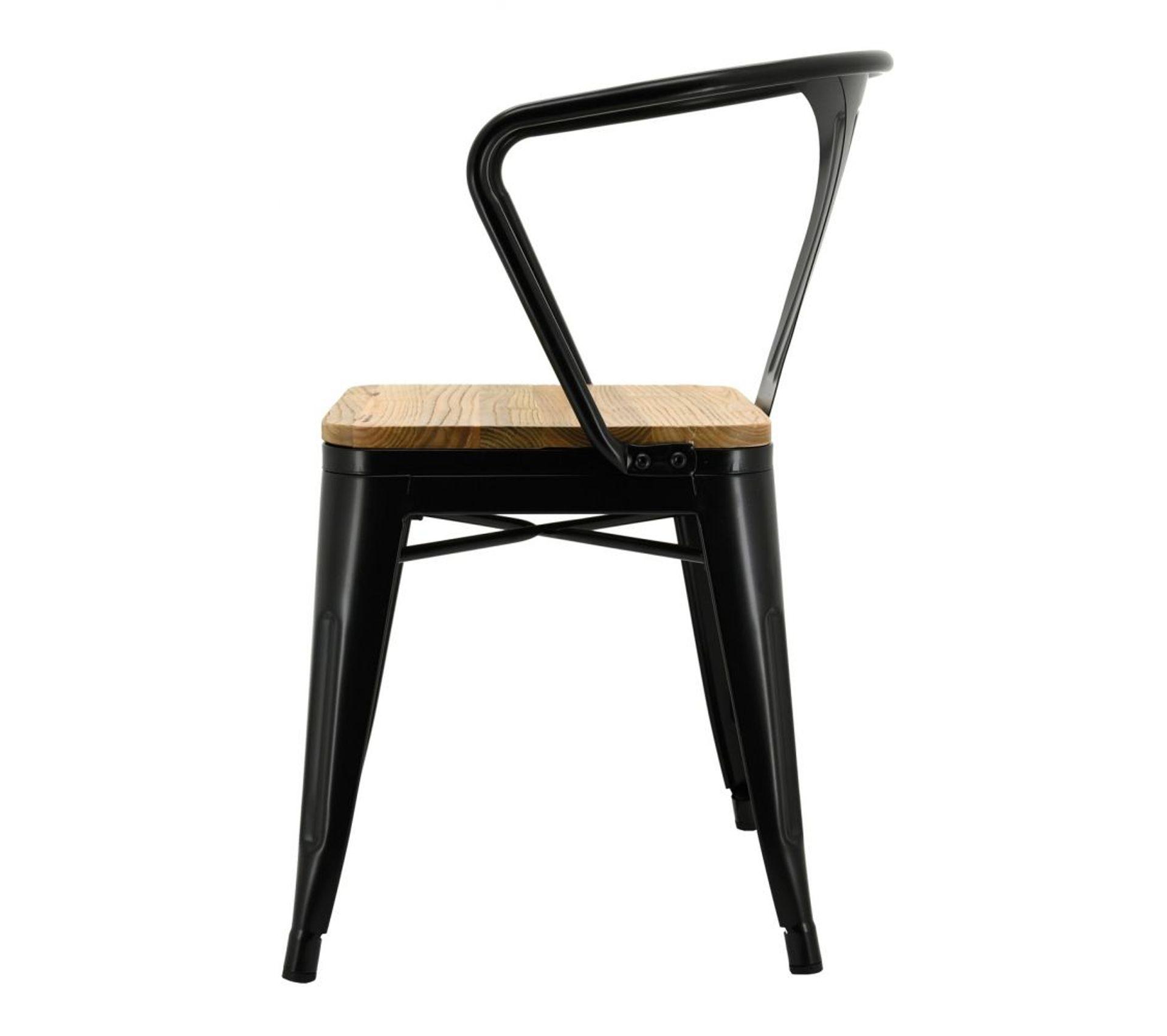 Chaise Bois Et Metal Industriel chaise industrielle en métal et bois dorme lot de 4
