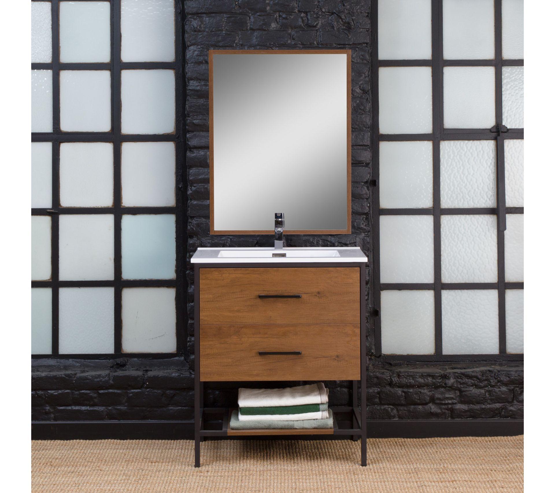 Salle De Bain Industrielle meuble salle de bain industriel 2 tiroirs, 1 vasque - petit modèle