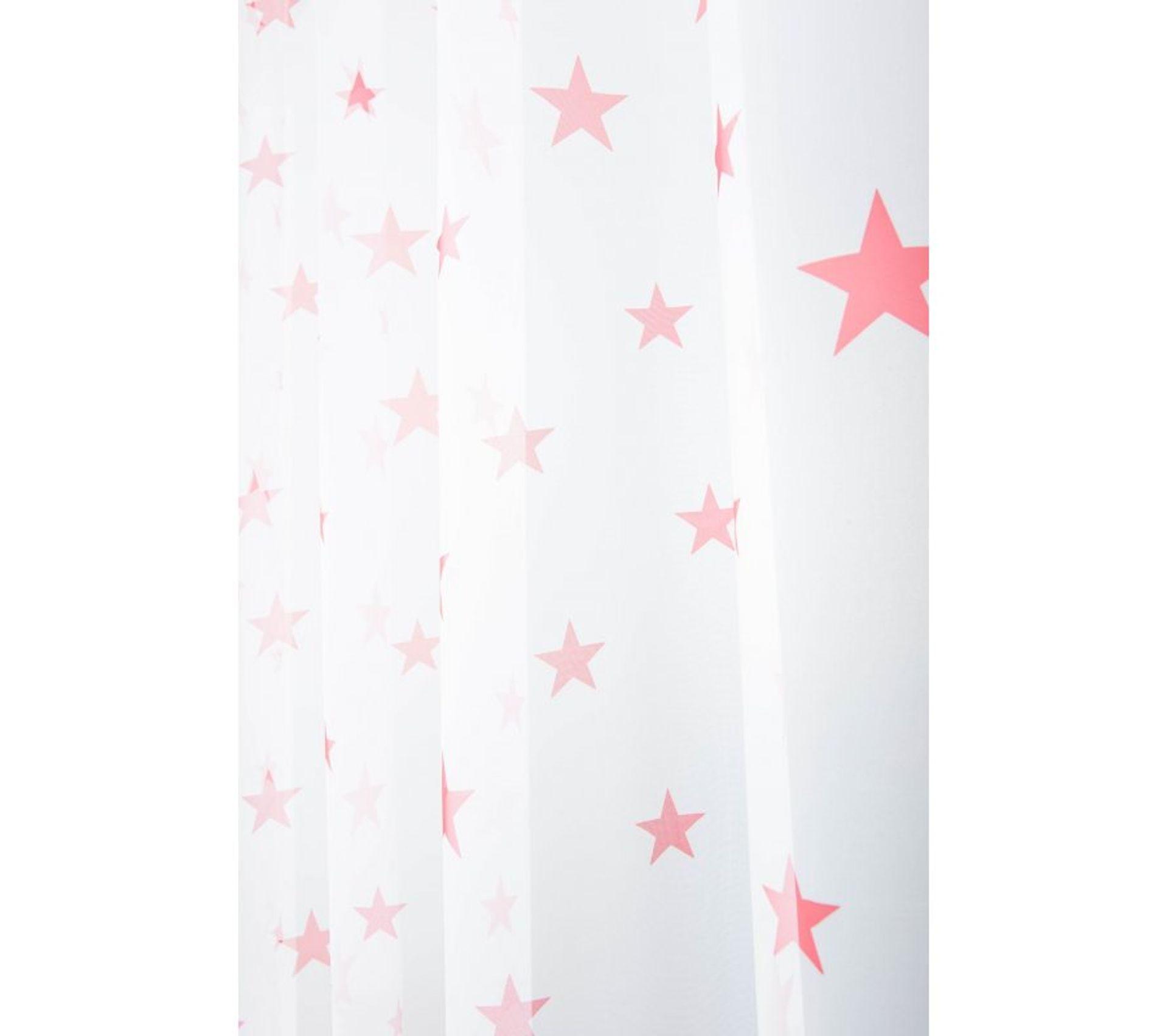 Voilage Chambre Enfant 140 X 240 Cm à Oeillets étoiles Rouge