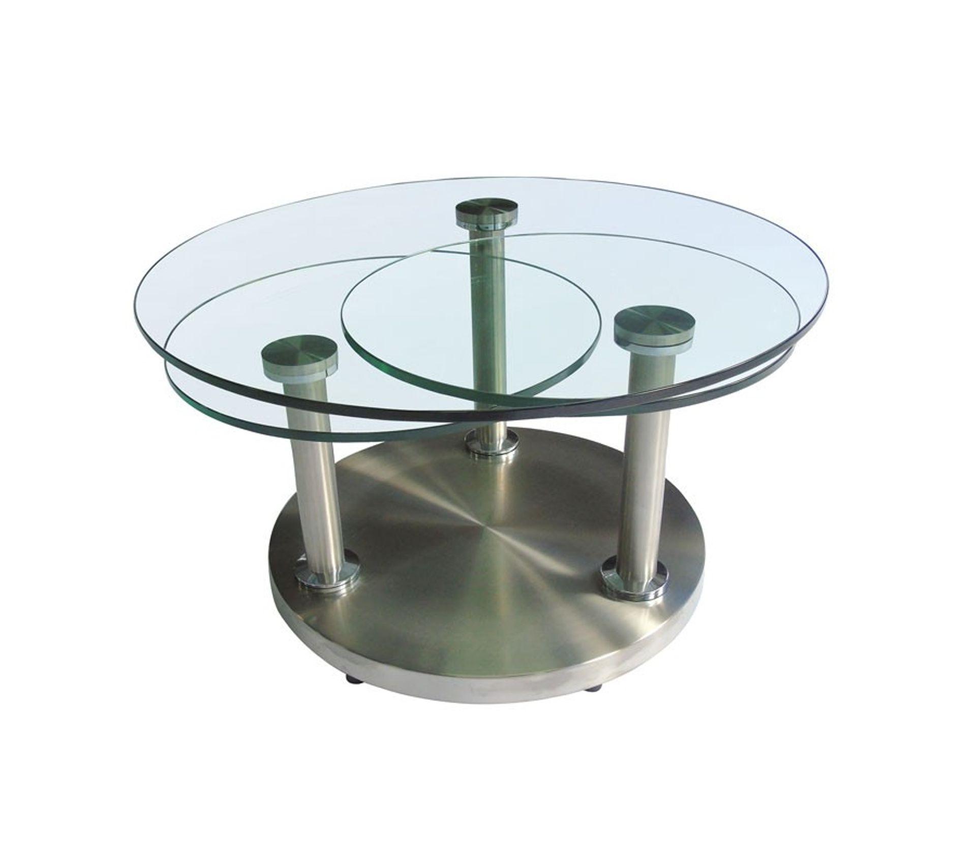 Table Basse Articulee Verre Et Metal Trygo Table Basse But