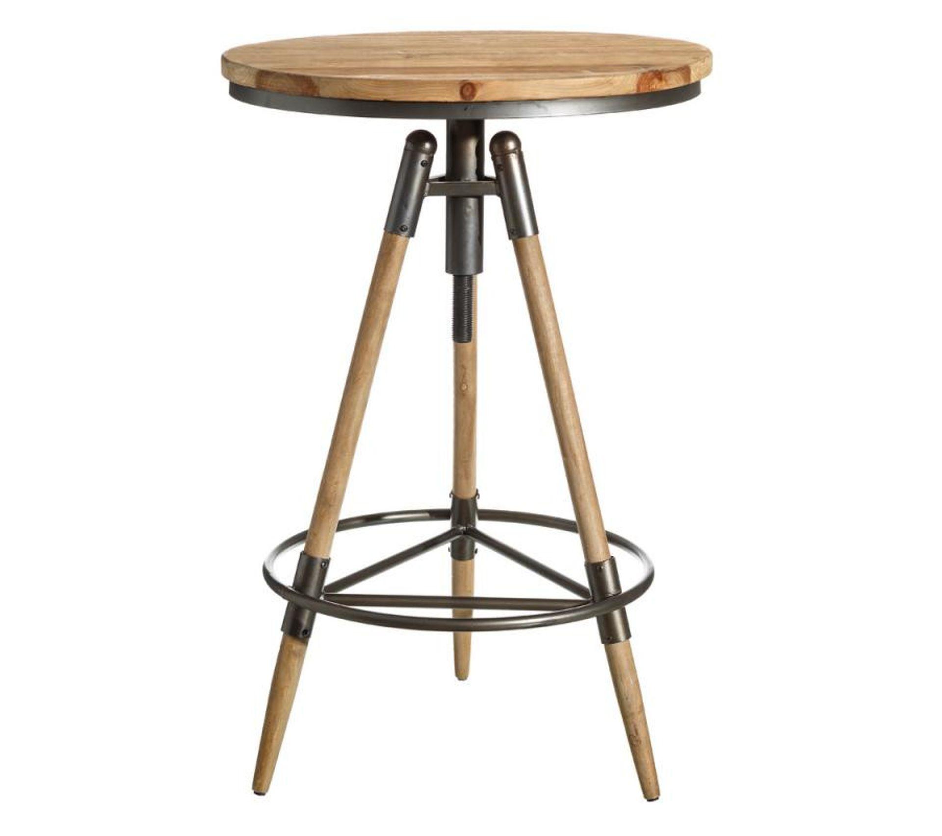 Table De Bar Ronde Haute: Table Haute Ronde Métal/bois