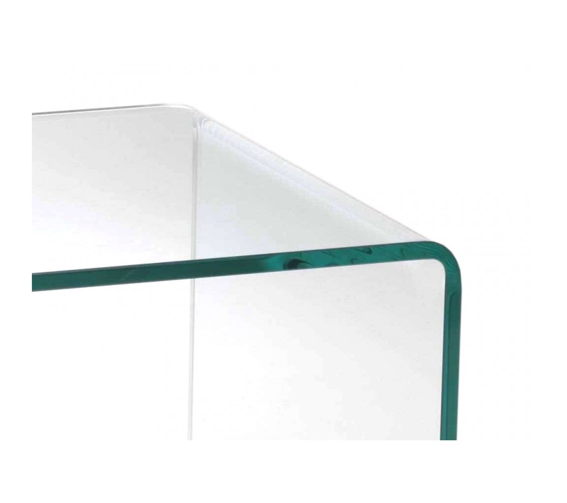 Meuble Tv En Verre Transparent Plateau Base Roulante En Bois Decor Chene Ice