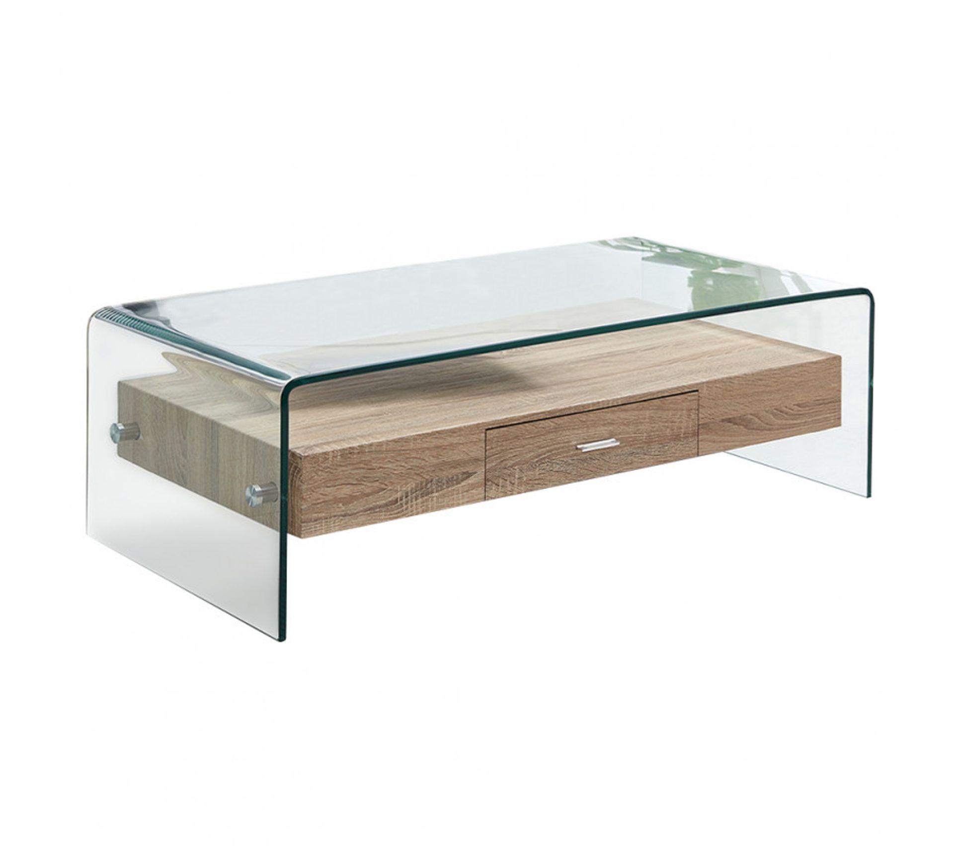 Table Basse En Verre Avec Tiroir Bois Ice Table Basse But
