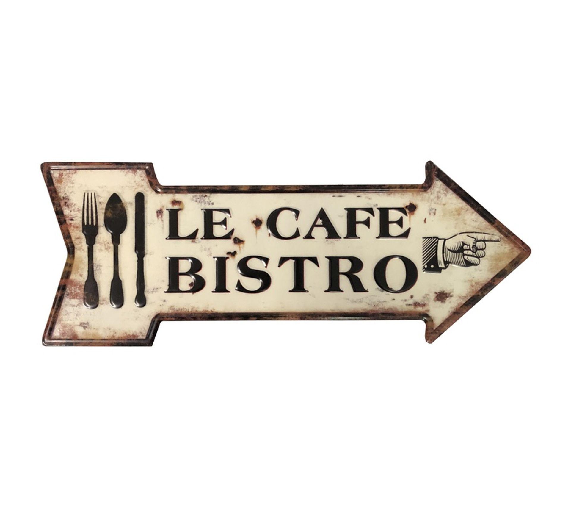 Plaque Pub En Metal Murale Bistro Deco Cuisine 50 Cm X 19 Cm
