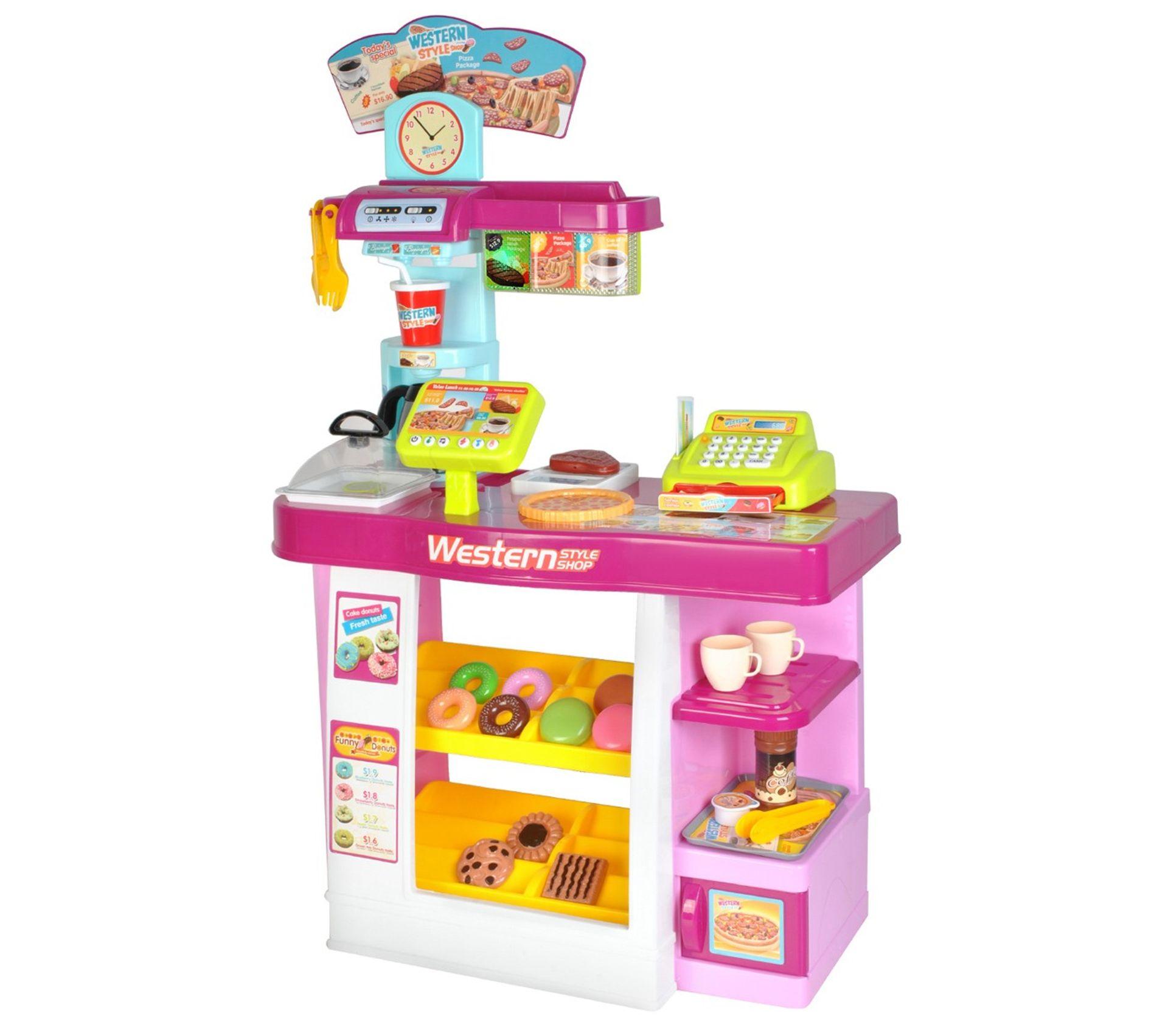 Kids Kitchen Set dîner café jouet Ustensiles Couverts carafe Plaques Tasses