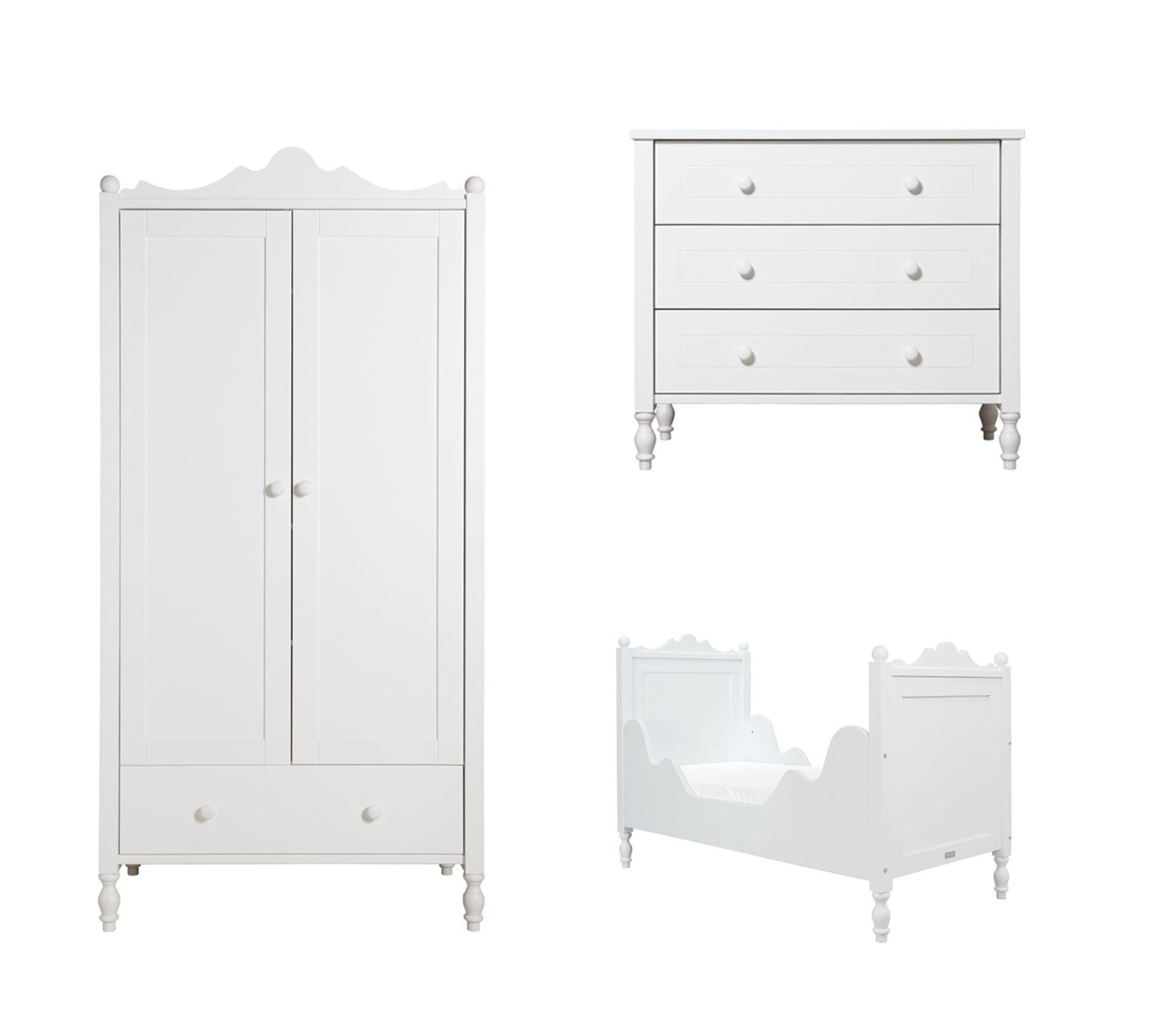 Commode A Langer Angle chambre complète lit Évolutif 70x140 - commode À langer - armoire 2 portes  bopita belle - blanc