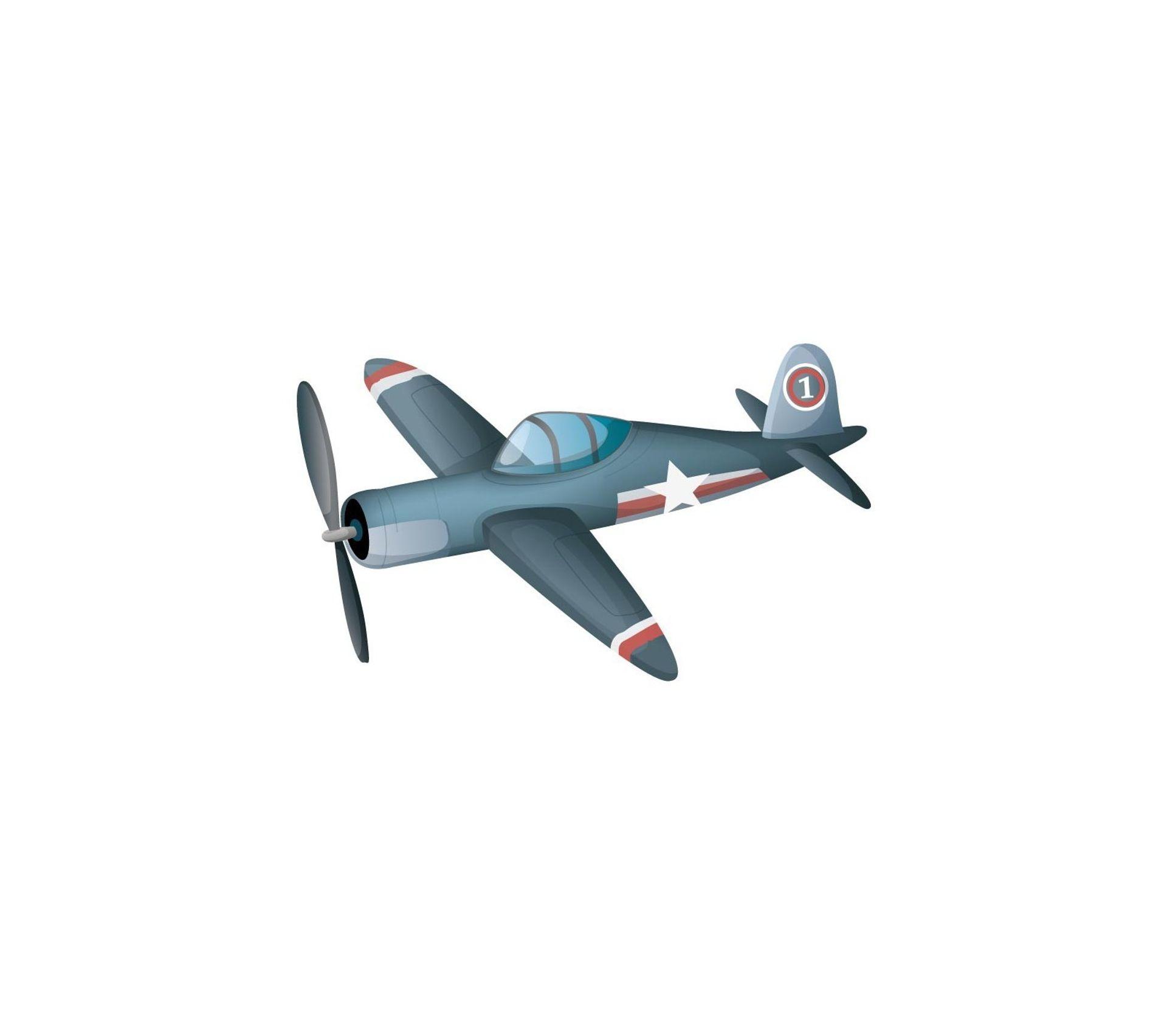 Etagere Avion Chambre Bebe sticker enfant : avion de chasse - format : 35 x 21 cm