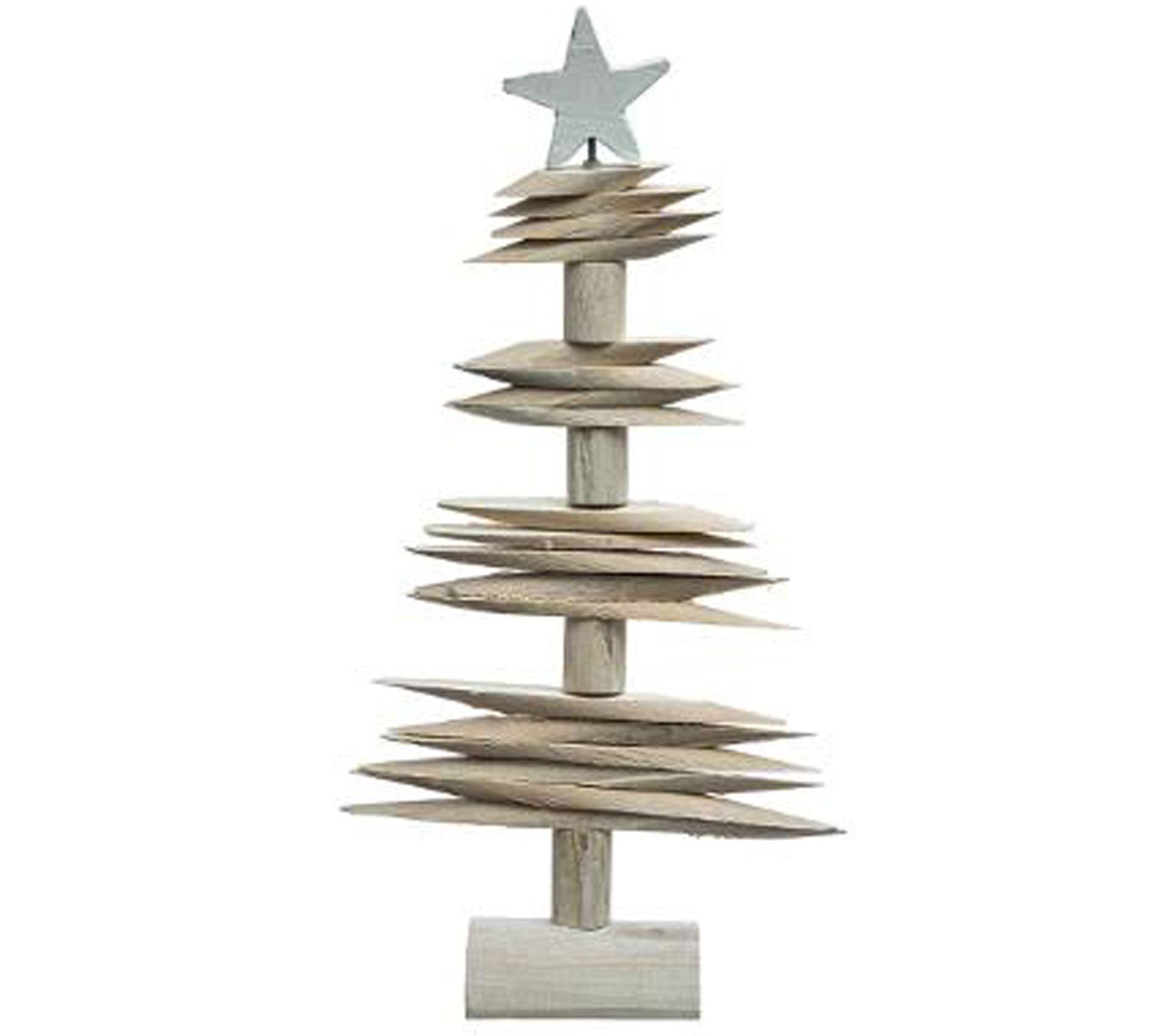 Sapin De Noel Suspendu En Bois sapin de noël en rondins, bois calir - dim : l.28 x l.10.5 x h.52cm