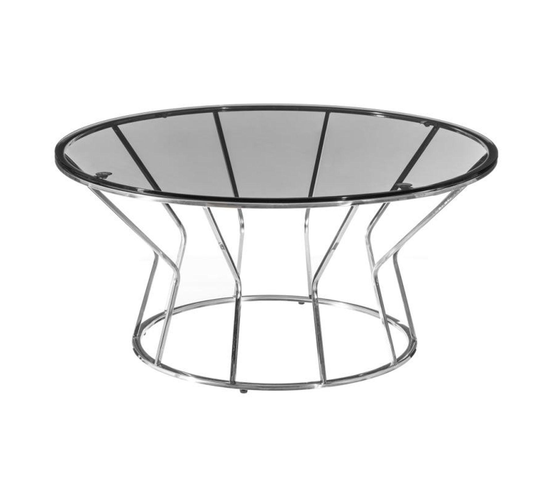 Table Basse Ronde Metal Verre Kunja Table Basse But
