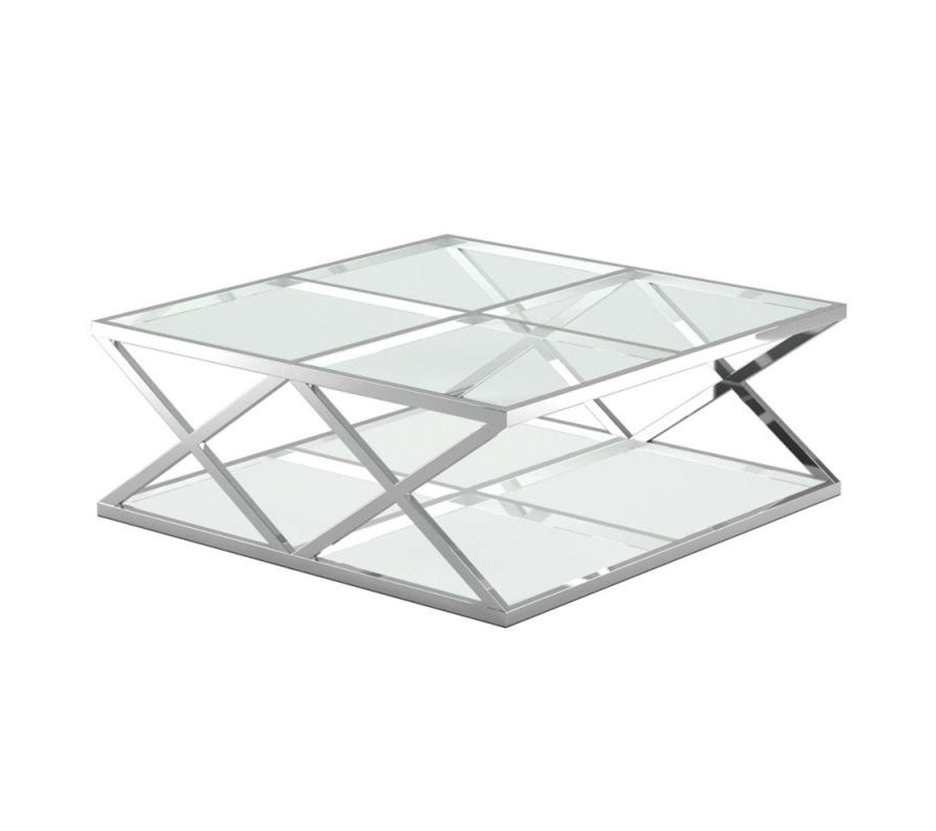 Table Basse Carree Verre Metal Zamani N 1 Table Basse But