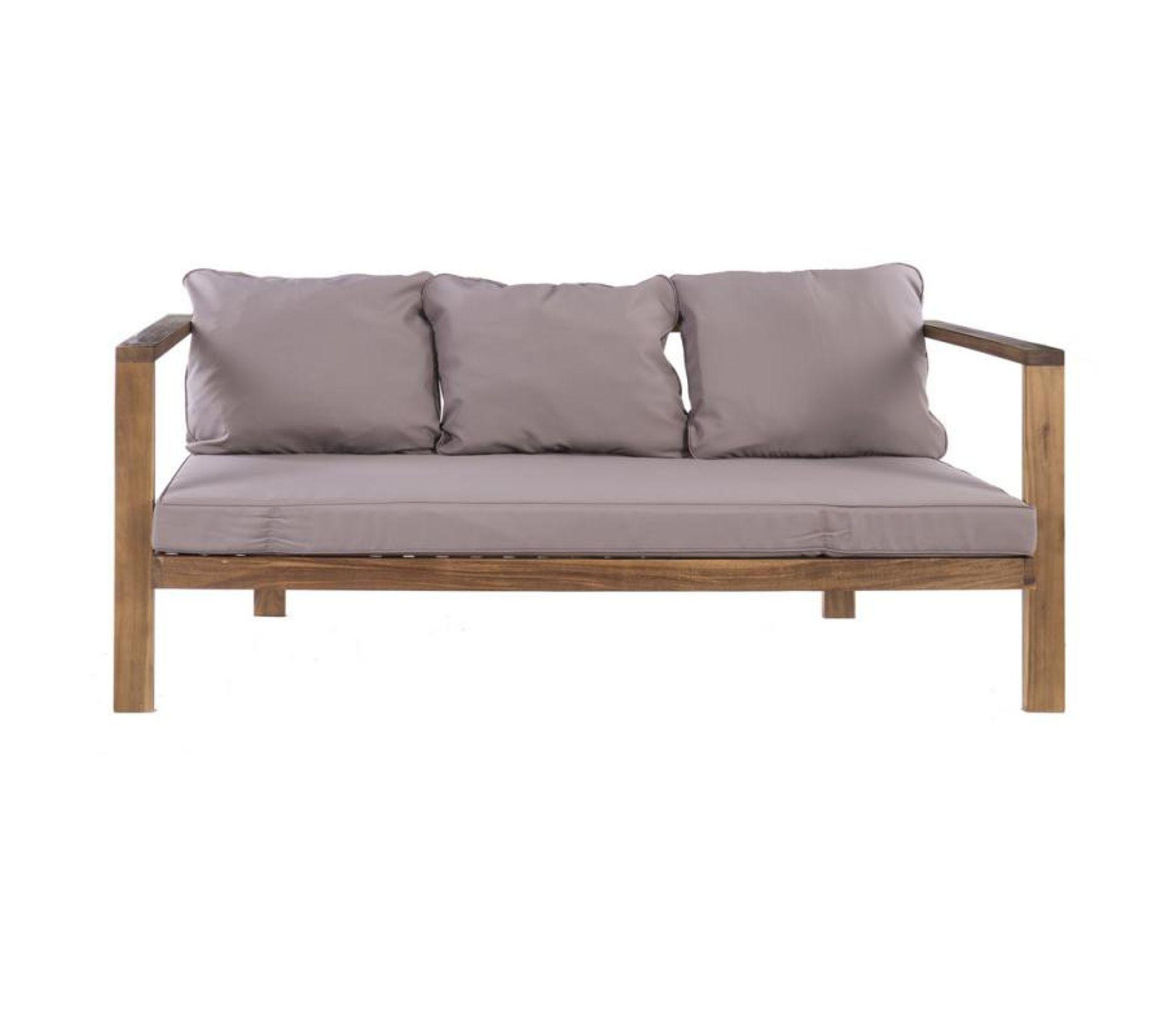 Canape exterieur bois