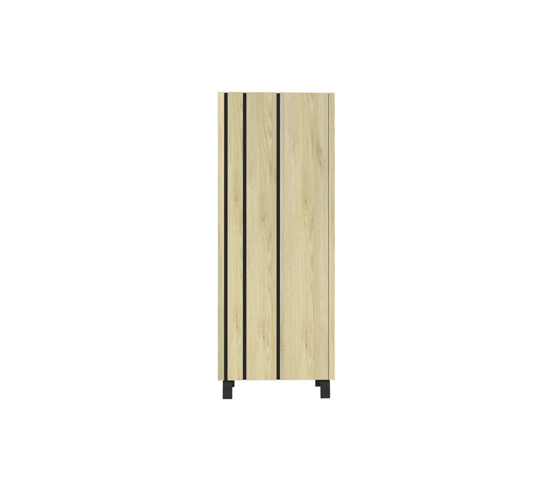 armoire de salon 1 porte chene clair ardoise forest